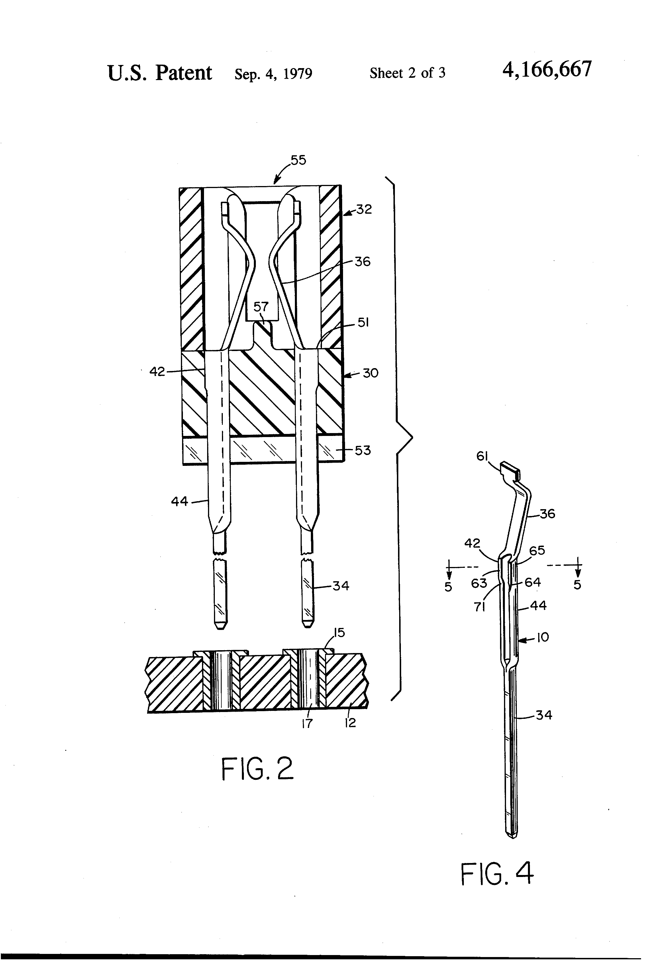 patent us4166667 - circuit board connector