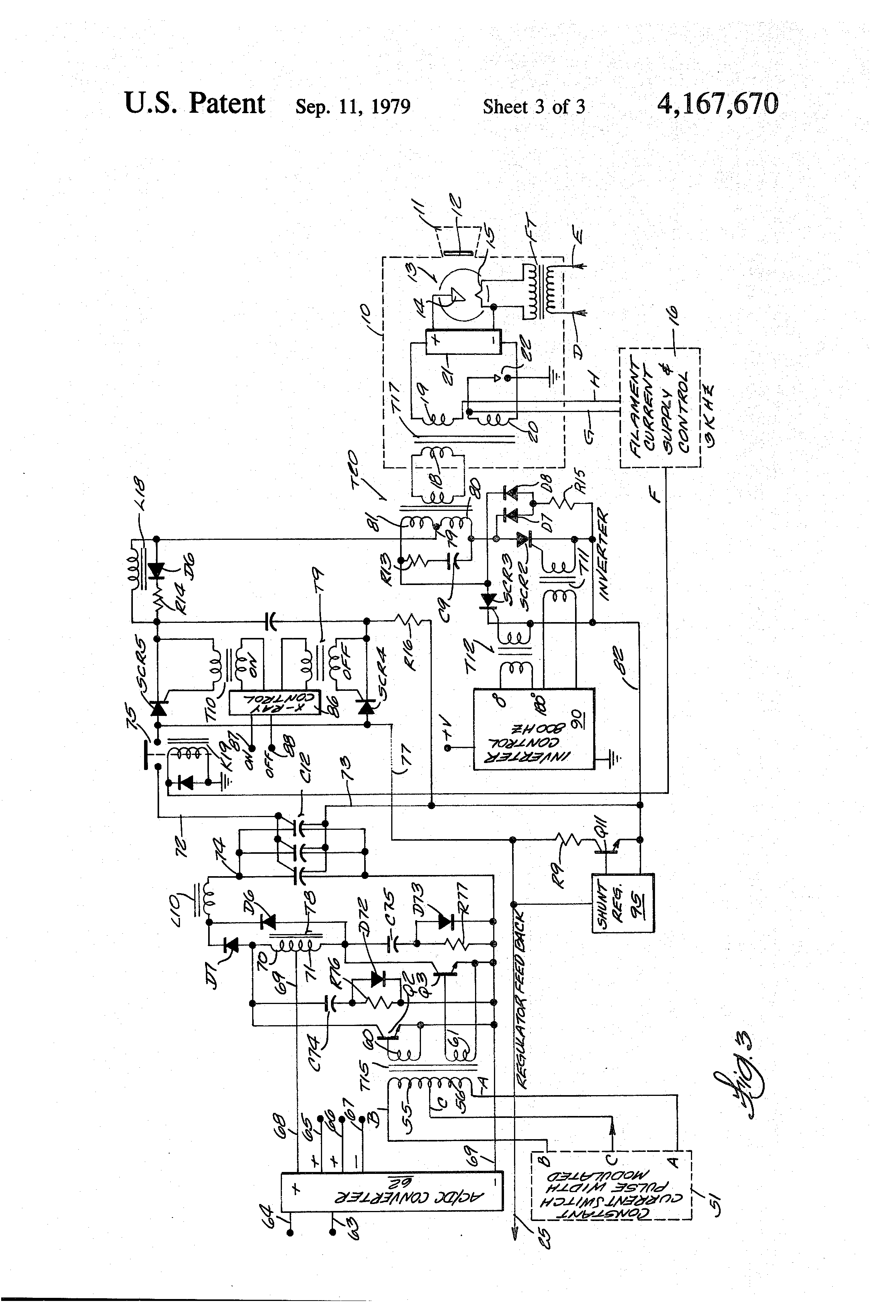 patent us4167670 - dental x-ray apparatus