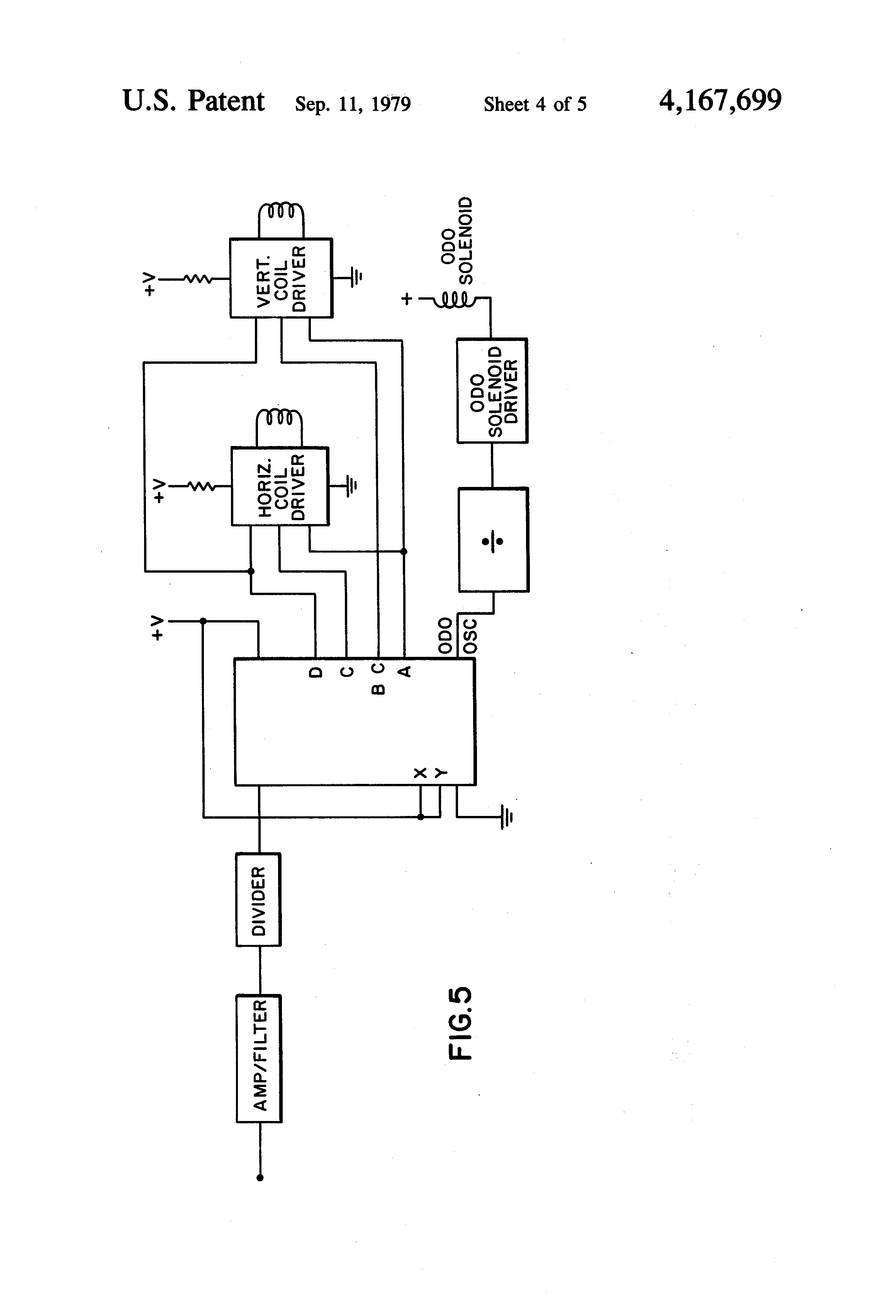 Patent Us4167699 User Calibrated Electronic Speedometer And Completed Solenoid Driver Circuit Drawing