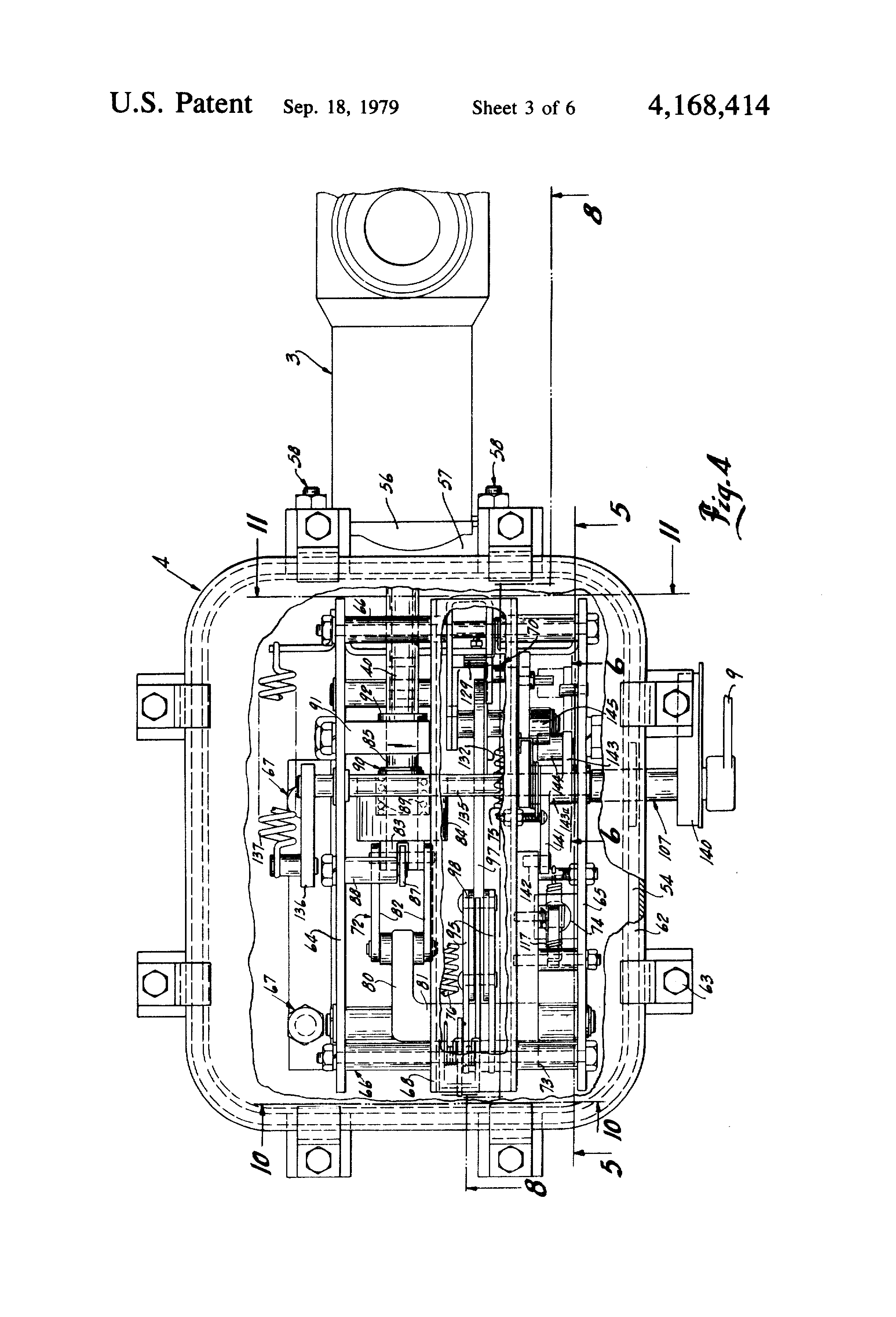 Patent Us4168414 Protective Switch Device And Operating High Voltage Vacuum Circuit Breaker With Lateral Mechanism4 Drawing
