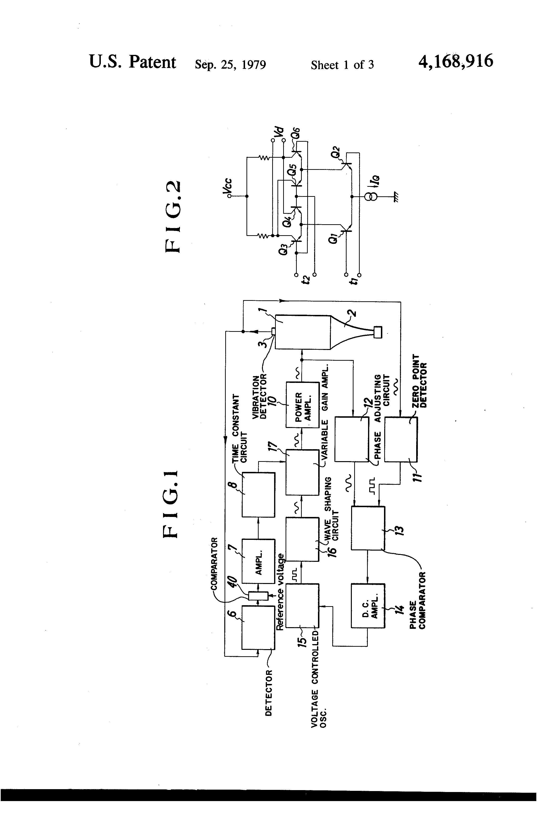 Patent Us4168916 Ultrasonic Oscillator Device And Machine Window Comparator Circuit Drawing