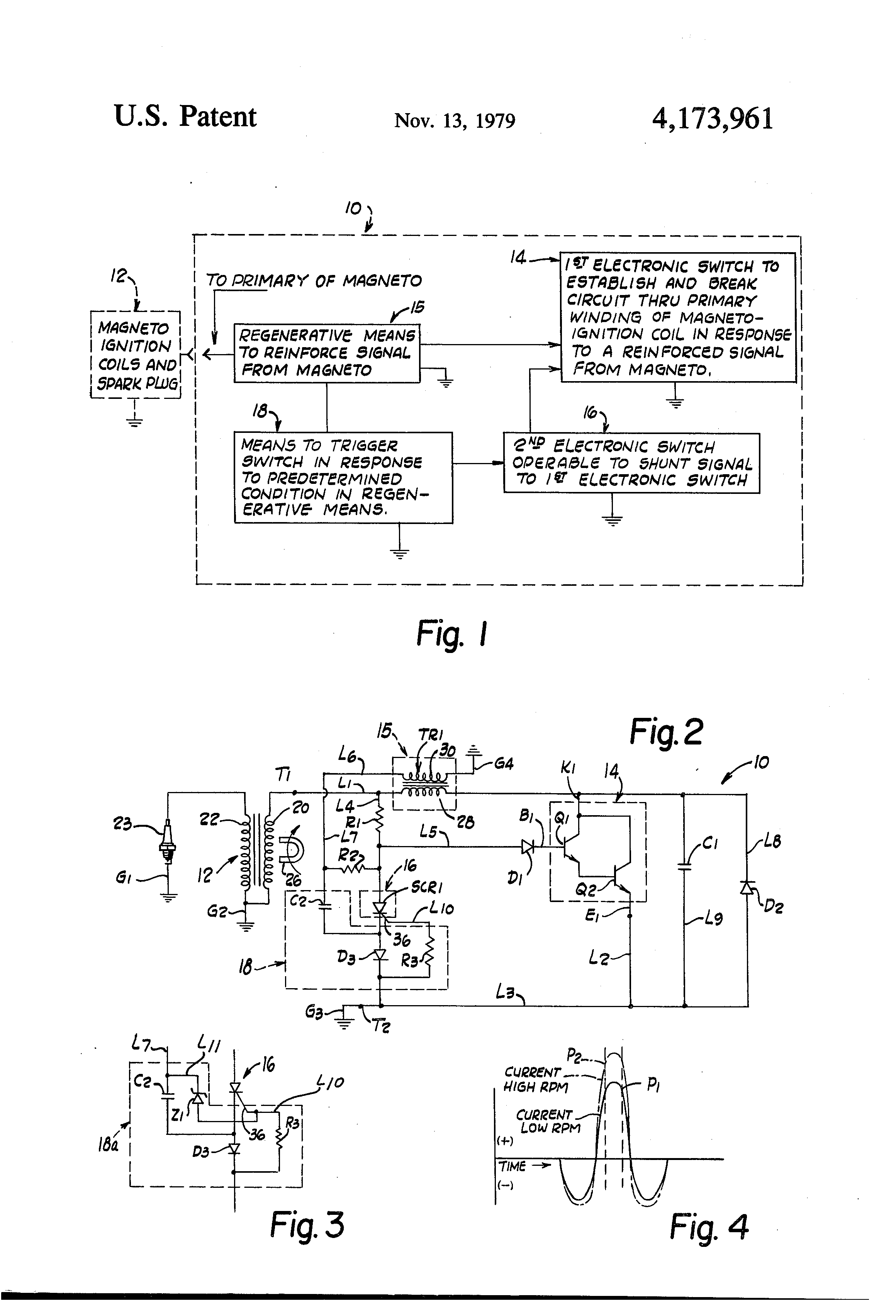 Patent Us4173961 - Inductive Solid State Magneto Ignition System