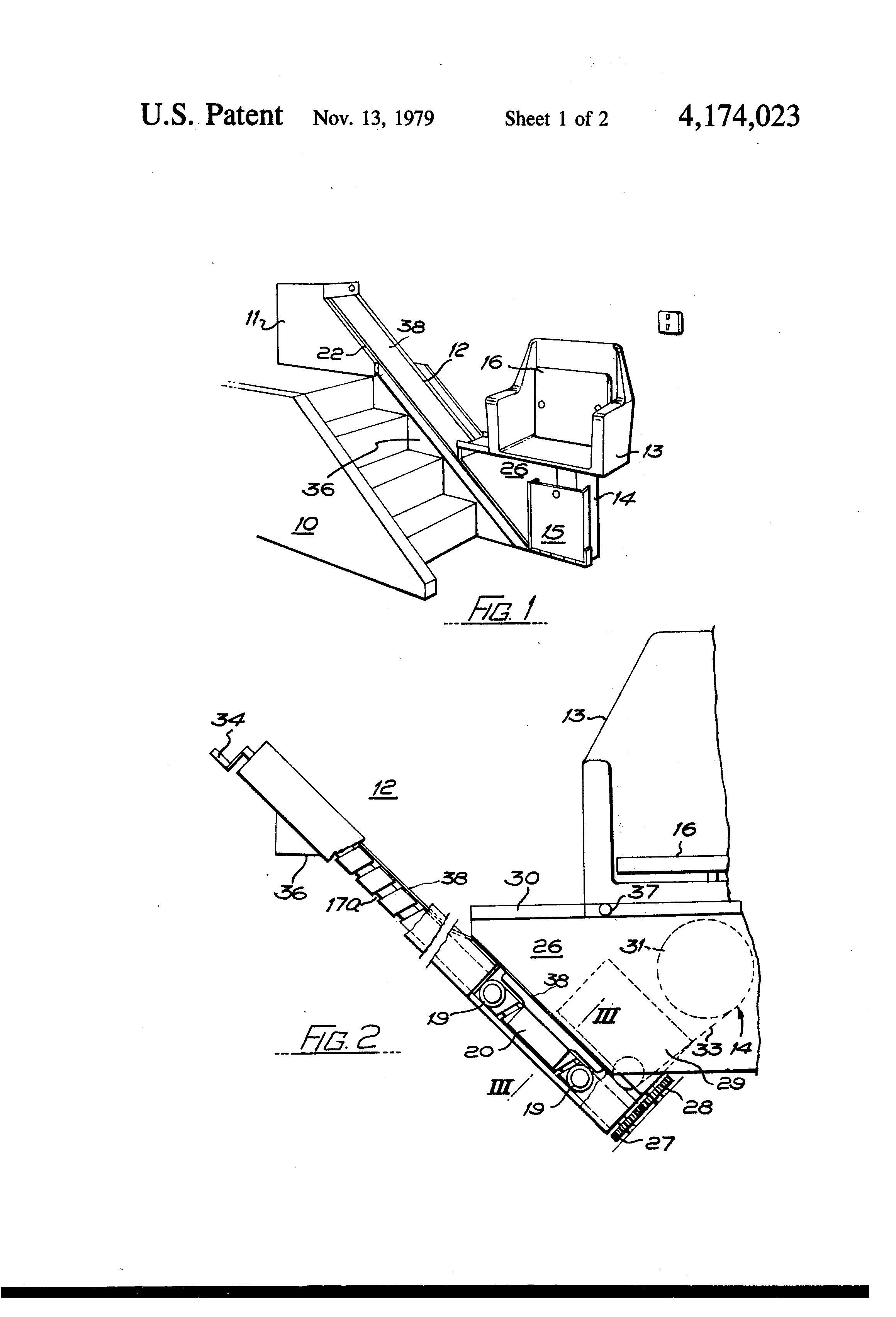 patent us4174023 stairlift patents Daystar Rocker Switch Wiring patent drawing