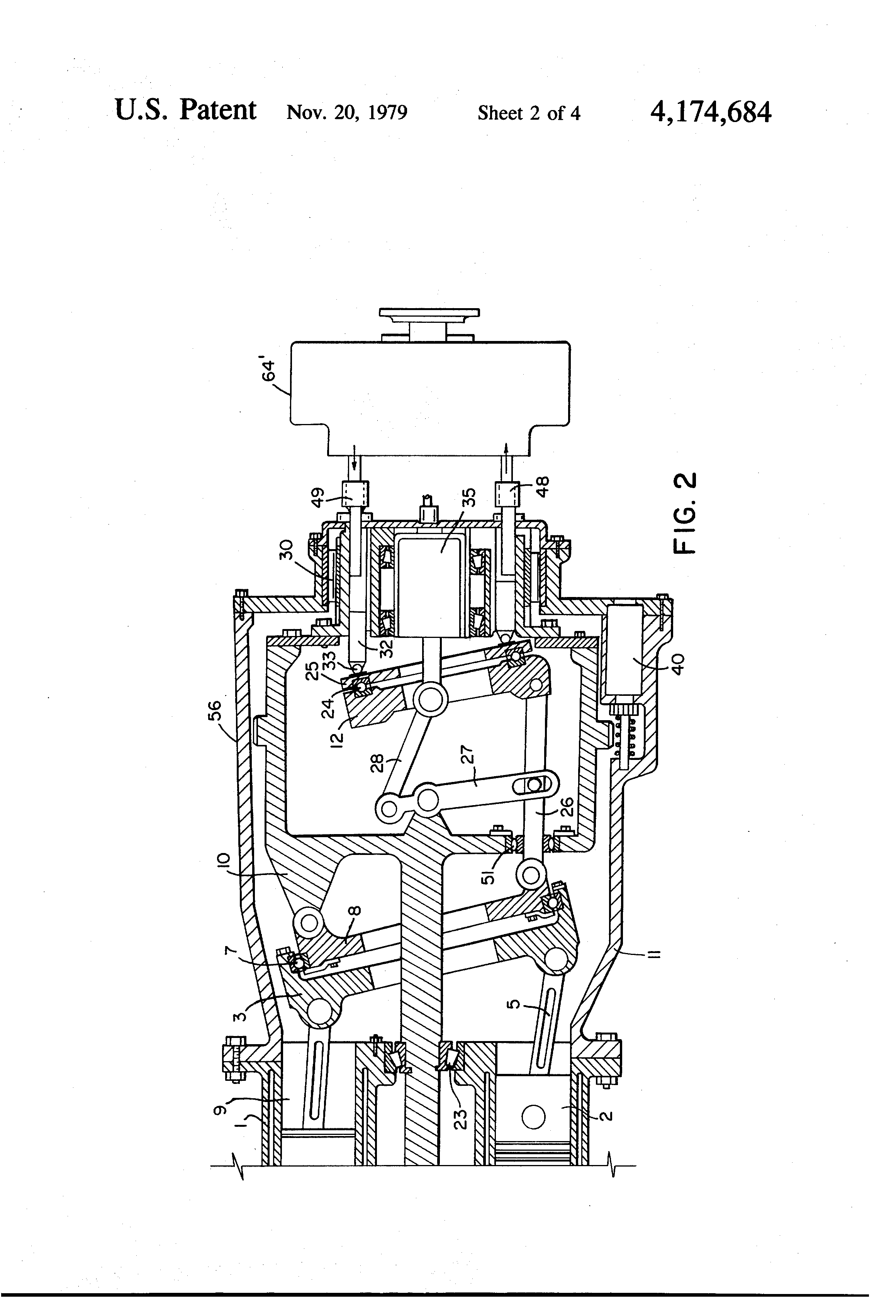 patent us4174684 - variable stroke internal combustion engine