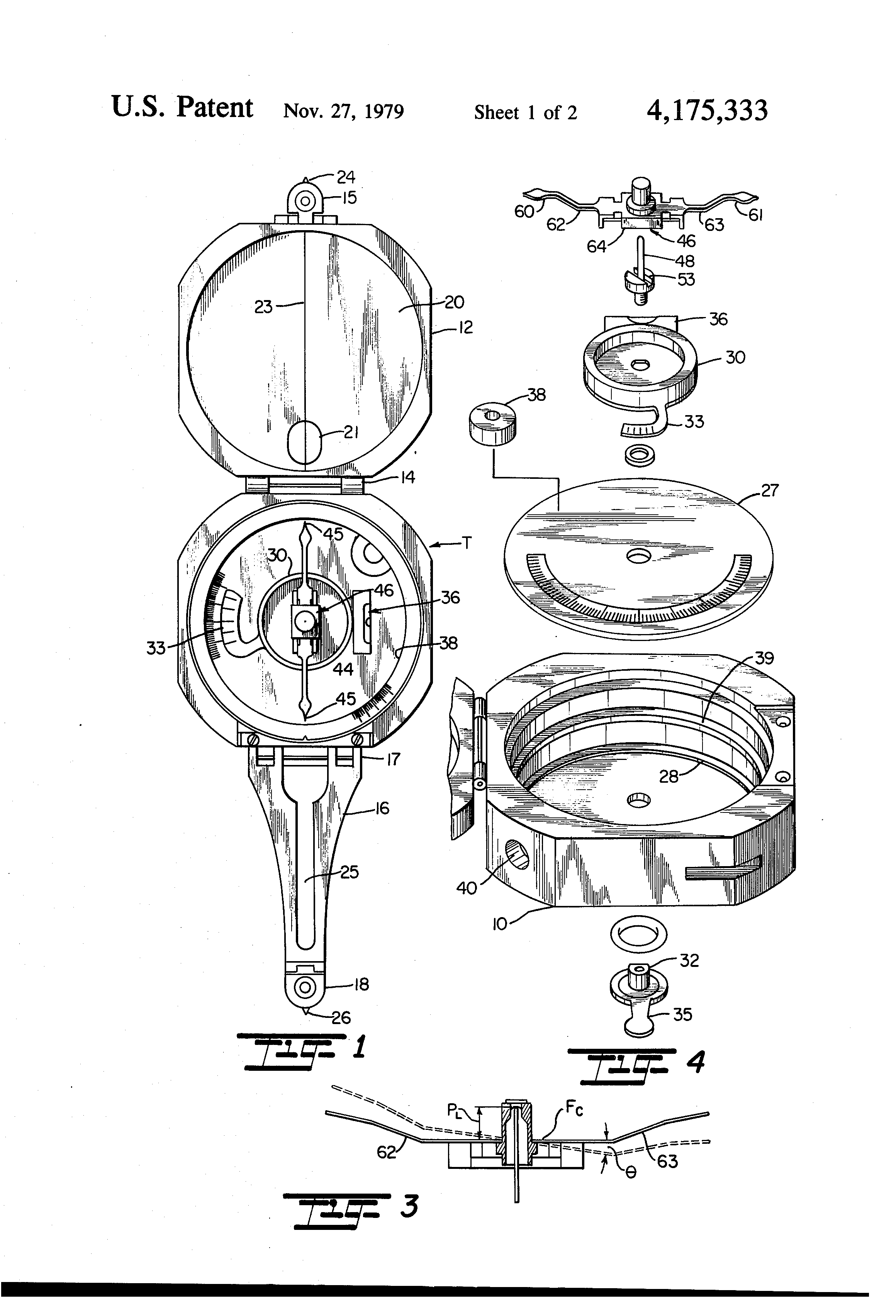Patent Us4175333 Magnetic Compass Google Patents