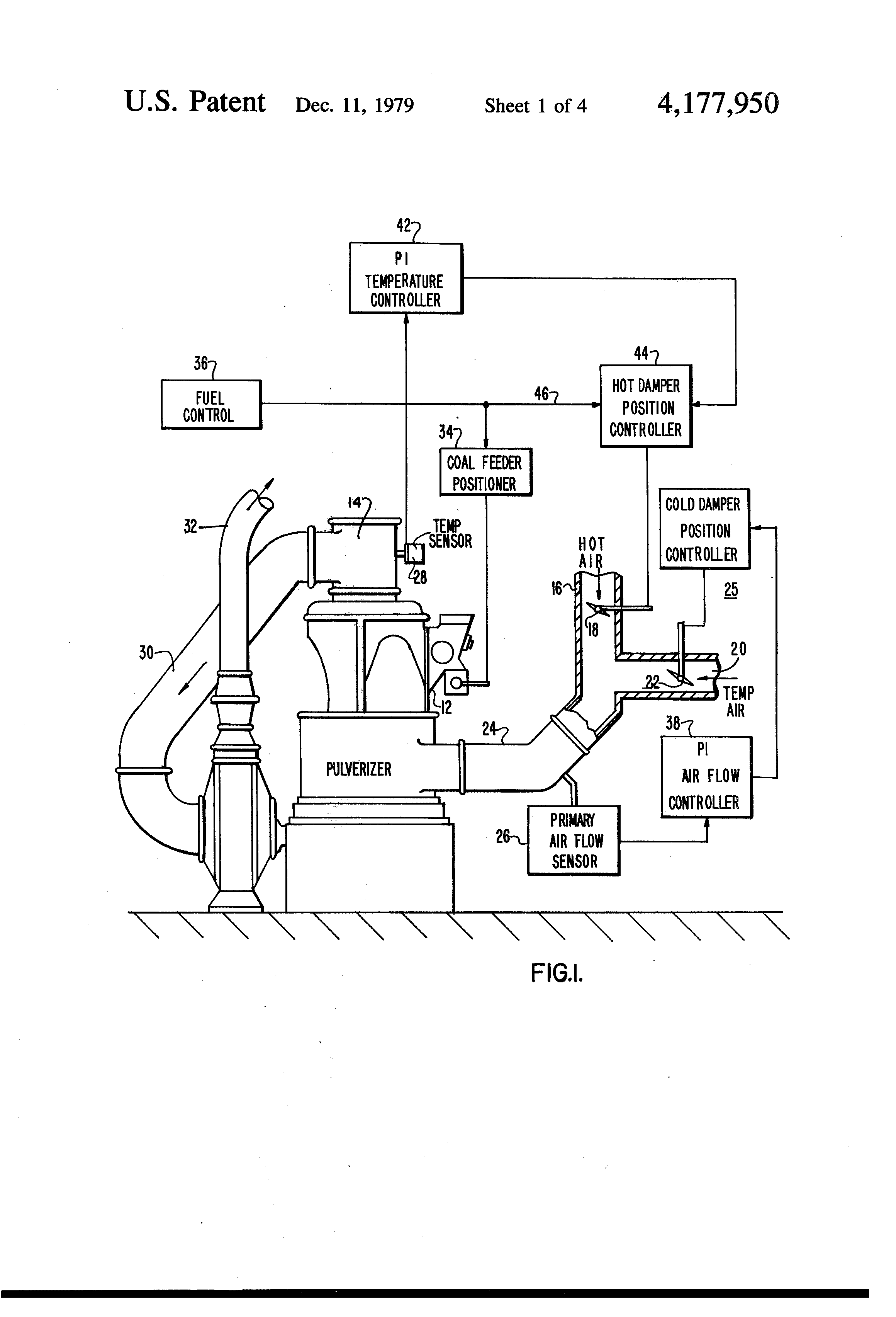 Patent Us4177950 Control For A Power Plant Coal Mill Pulverizer Honda Map Sensor Wiring Drawing