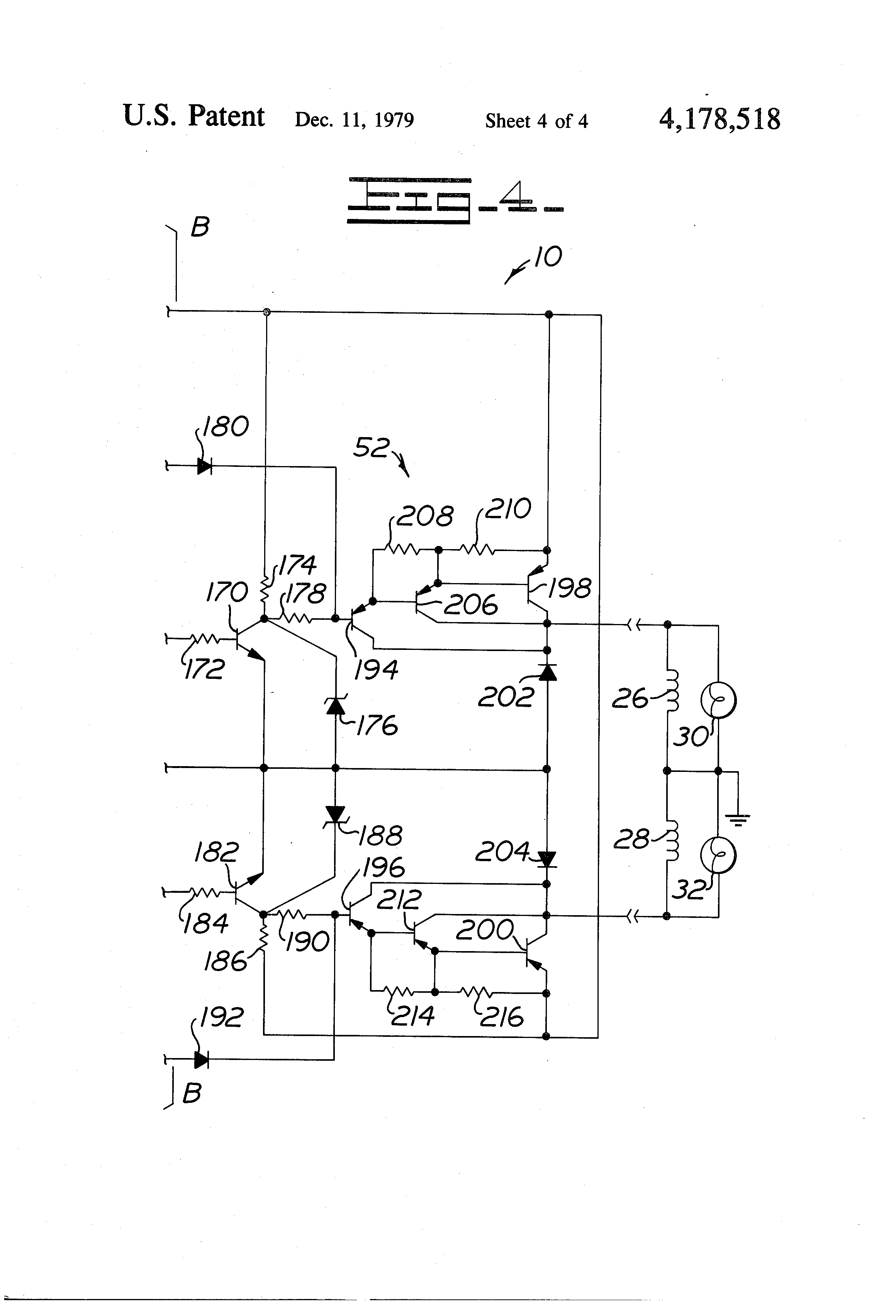 Patent Us4178518 Electronic Directional Control Circuit Google 96 Civic Fuse Box Drawing