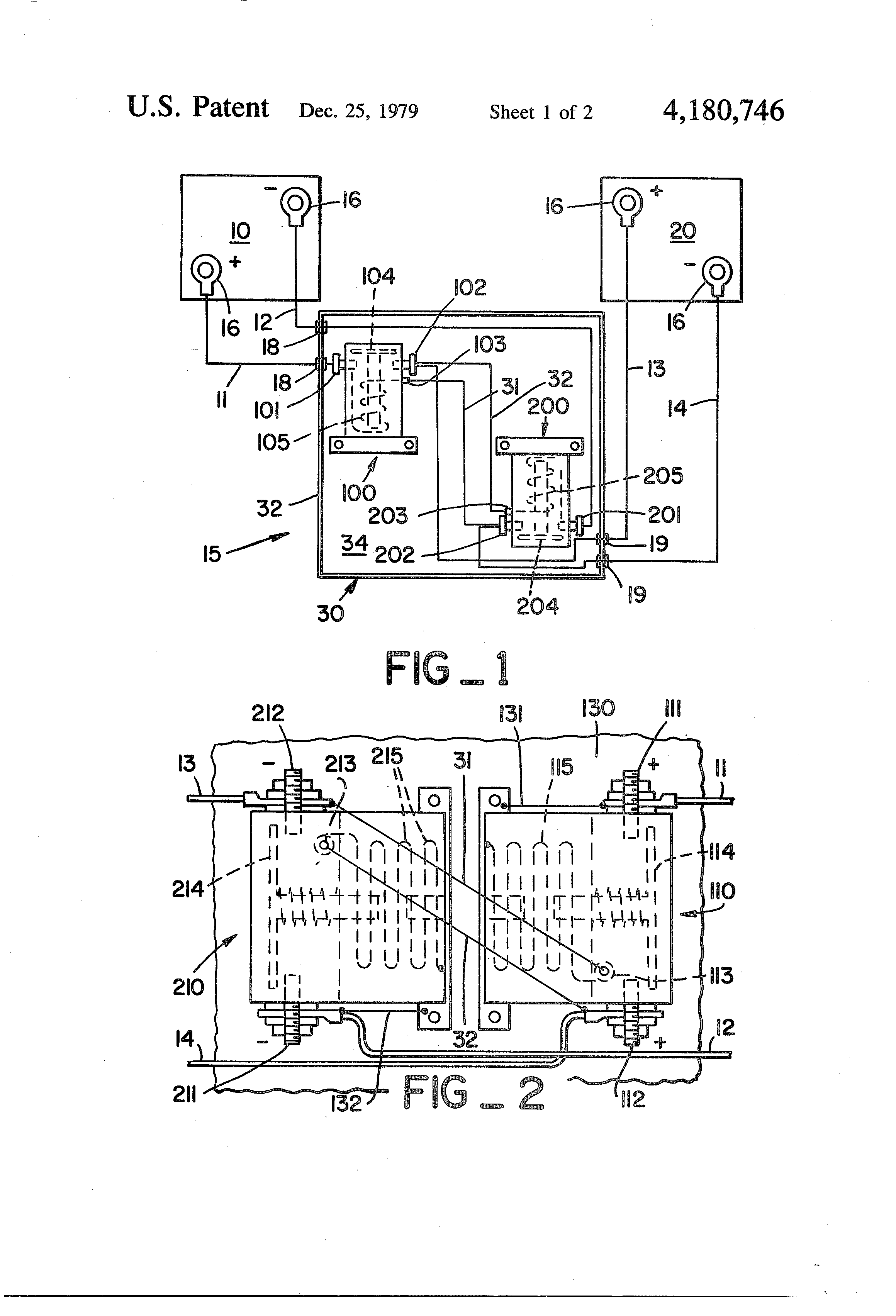 Brevet Us4180746 Interlocked Battery Jumper Cable Assembly St81 Solenoid Wiring Diagram Patent Drawing
