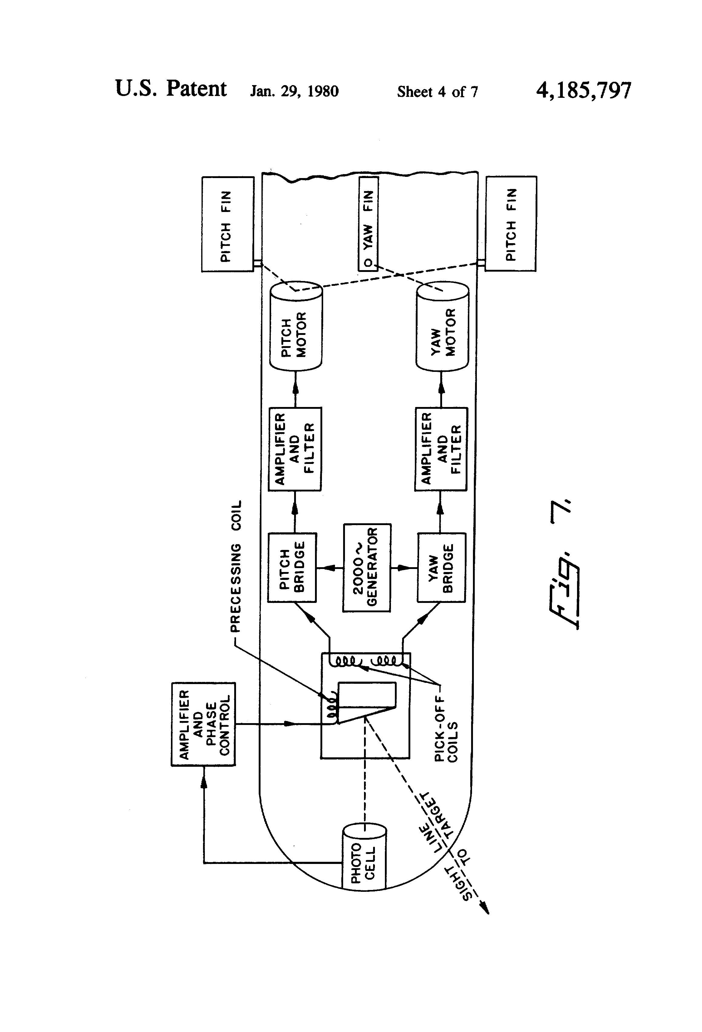 Patent Us4185797 Target Seeking Gyro Google Patents Photocells Amplifiers Circuit Schematic Diagram Drawing