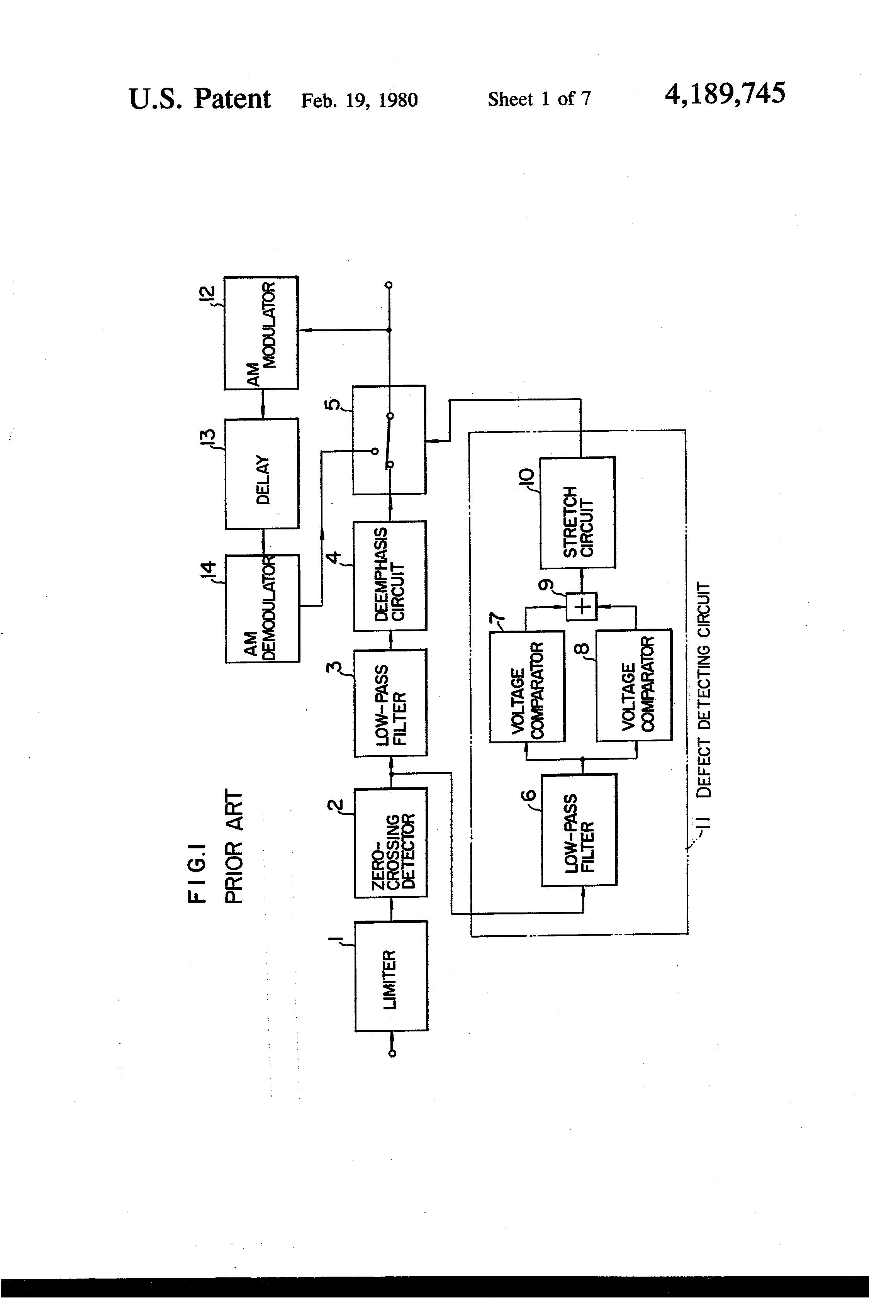 Patent Us4189745 Defect Detecting Apparatus Google Patents Low Pass Filter Circuit Diagram Drawing