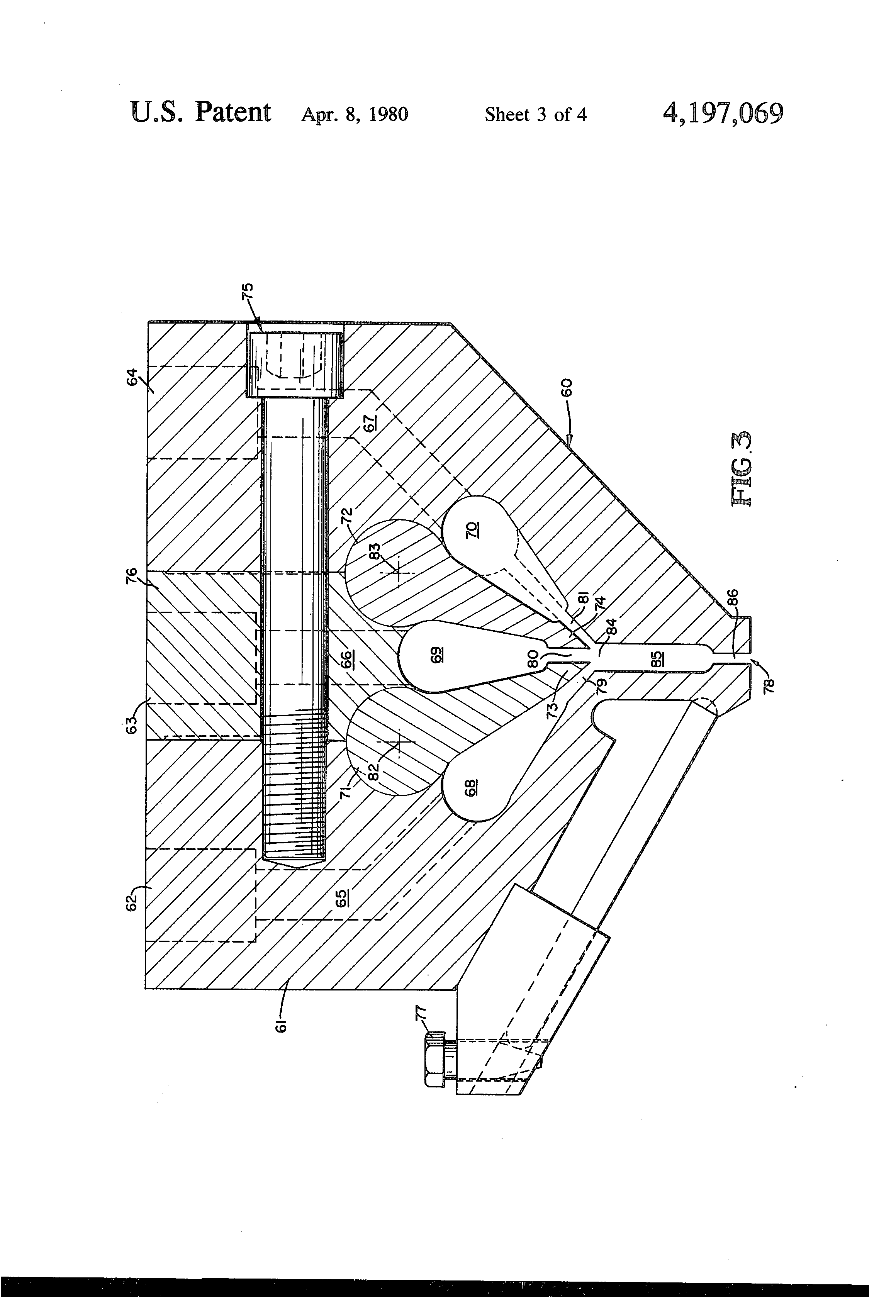 Patent us4197069 variable thickness extrusion die google patents patent drawing asfbconference2016 Image collections