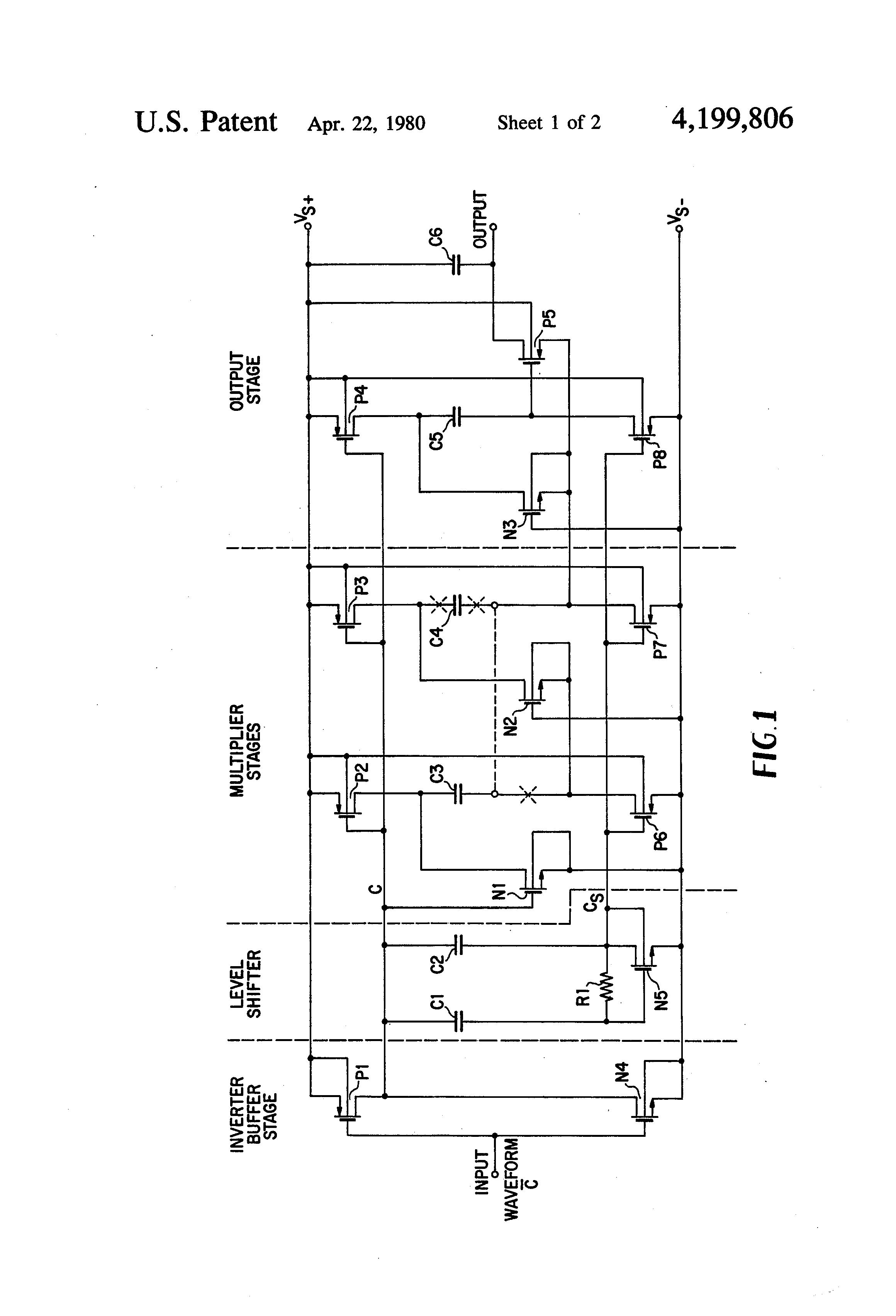 patent us4199806 - cmos voltage multiplier