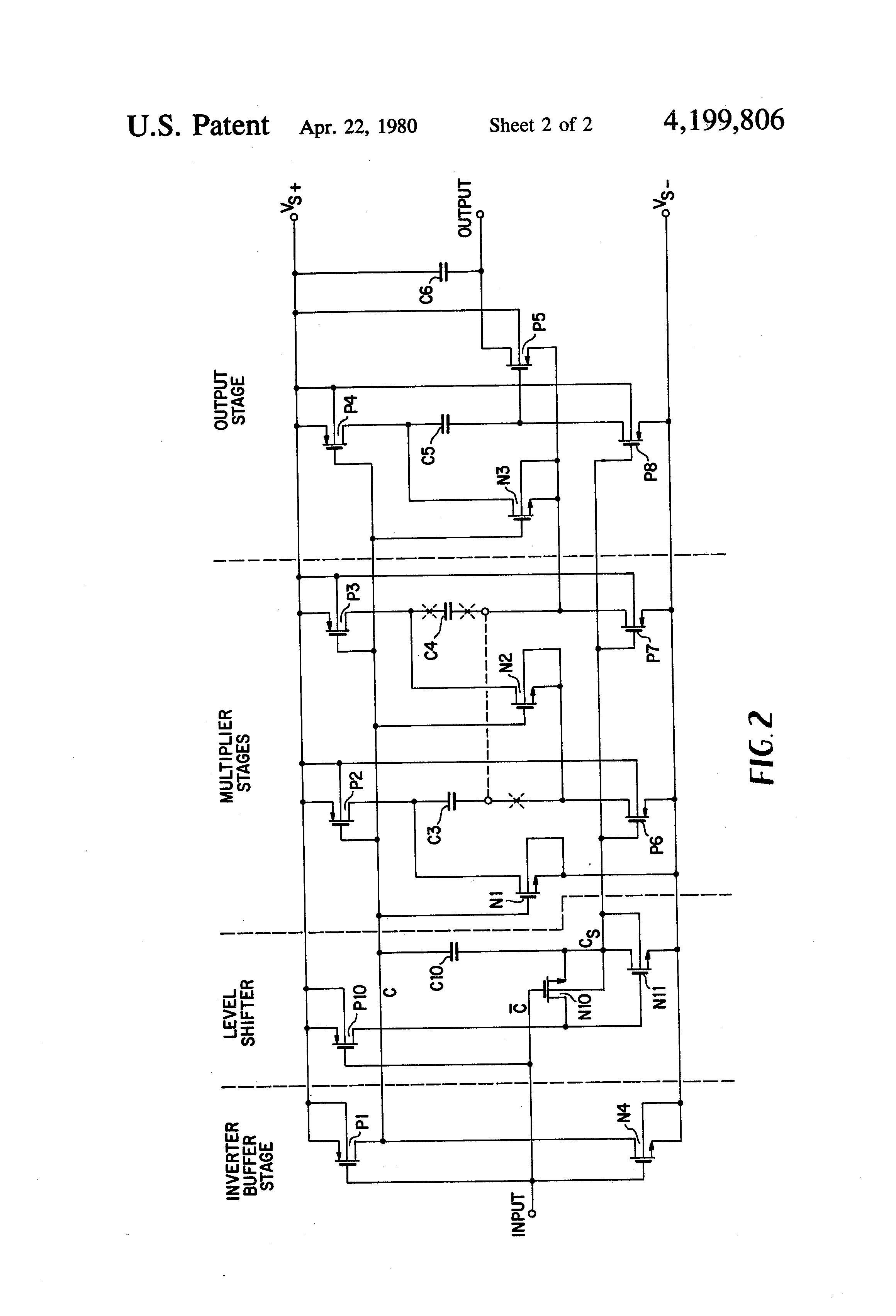 patent us4199806 - cmos voltage multiplier