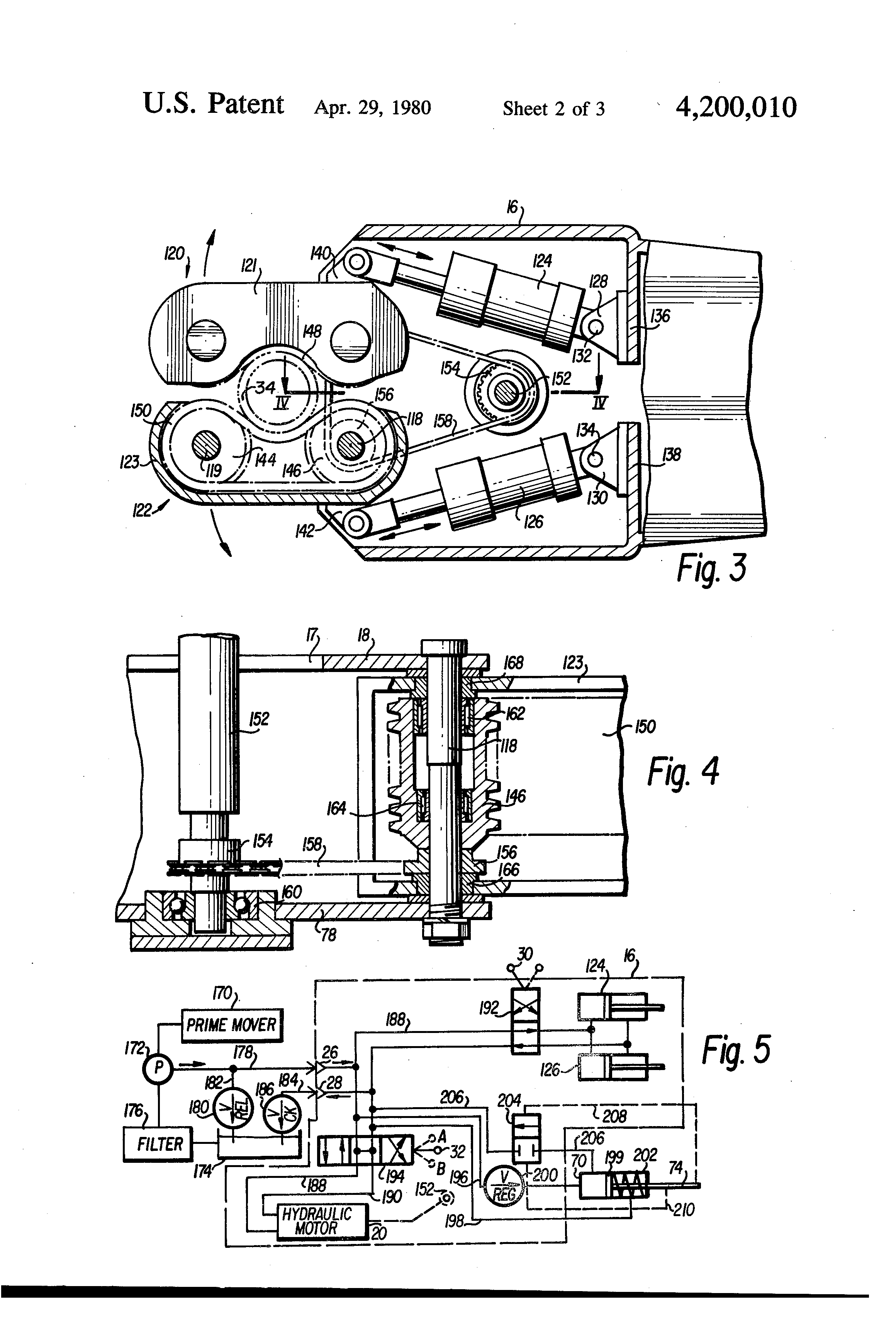 Patent Us4200010 Power Operated Drill Pipe Spinner And