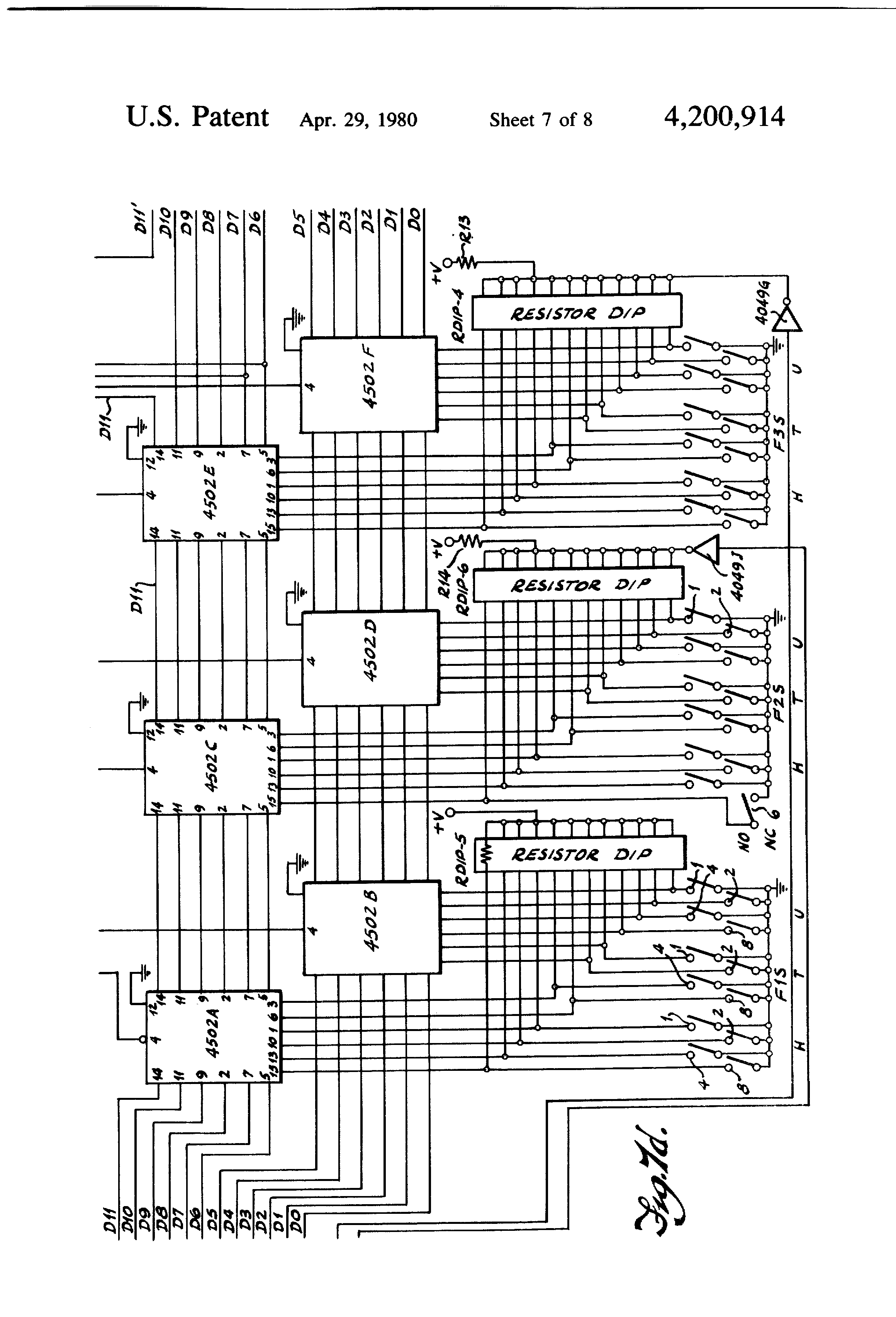 Patent Us4200914 Memory Programming Control System For Storing A Icom Ic A200 Wiring Diagram Drawing