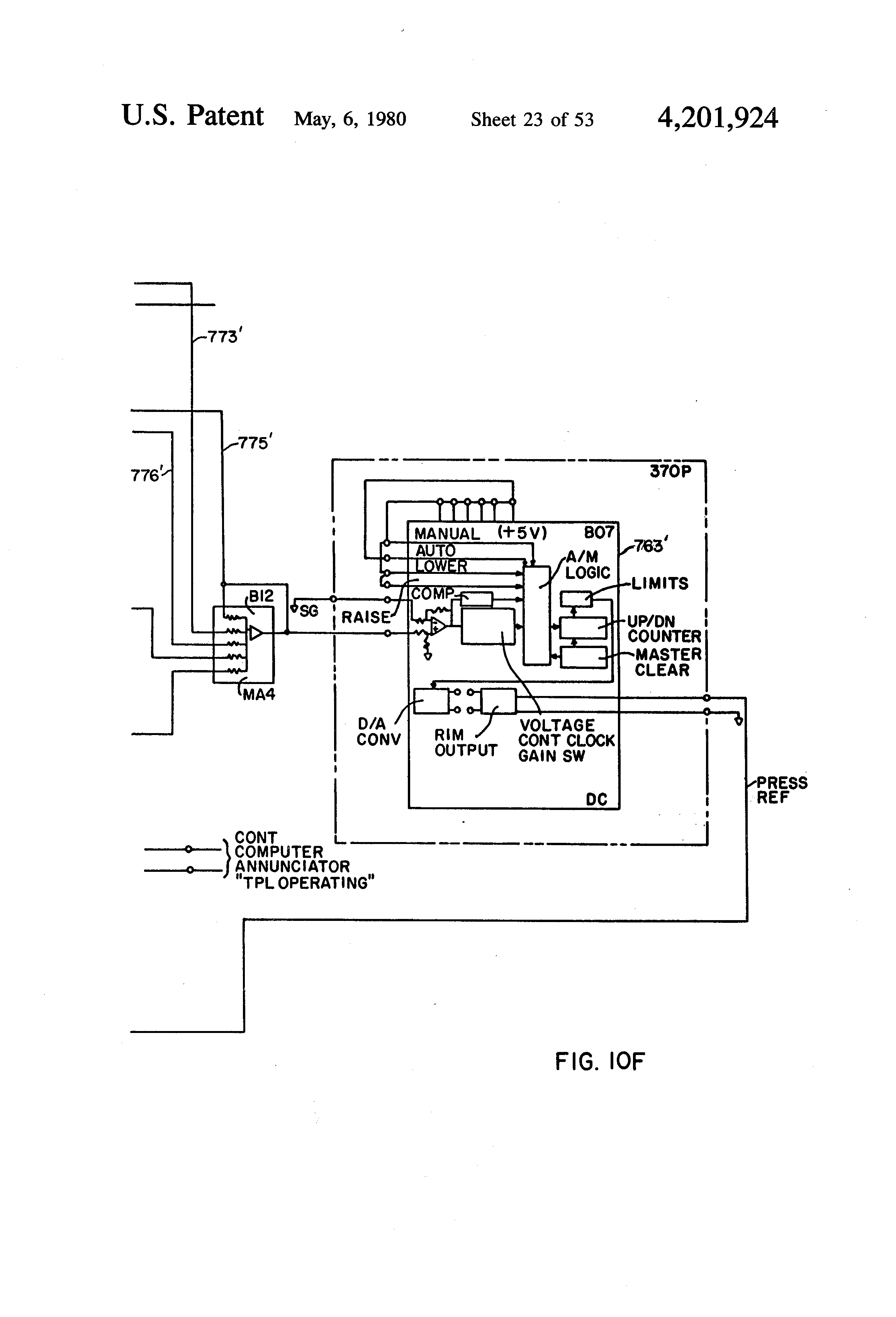Patent US bined cycle electric power plant with a