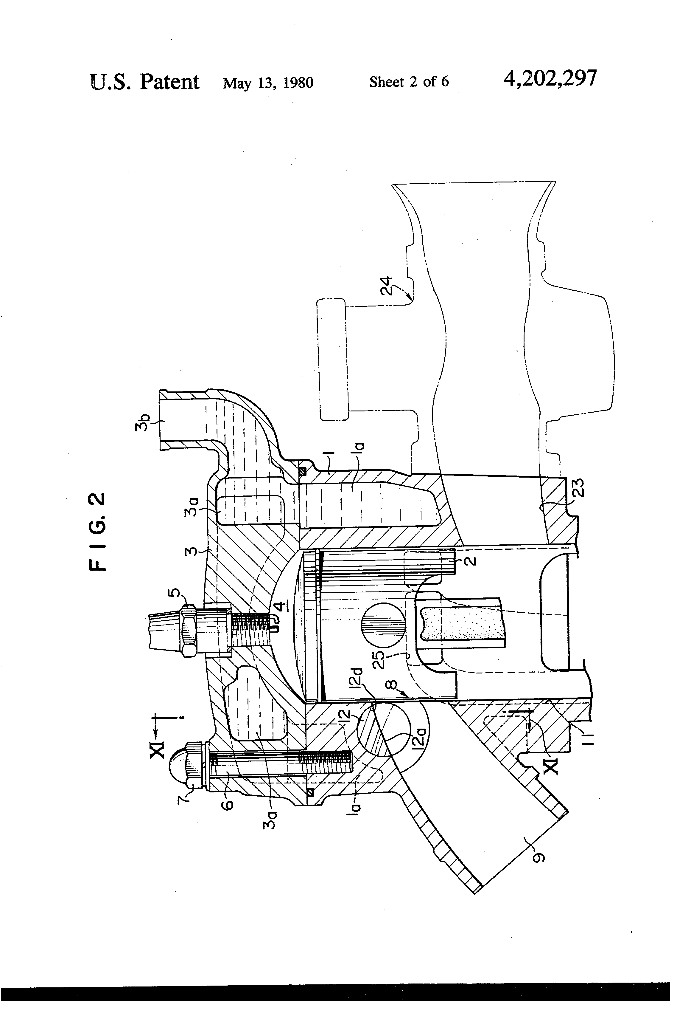 patent us4202297 - two-stroke engine having variable exhaust port timing