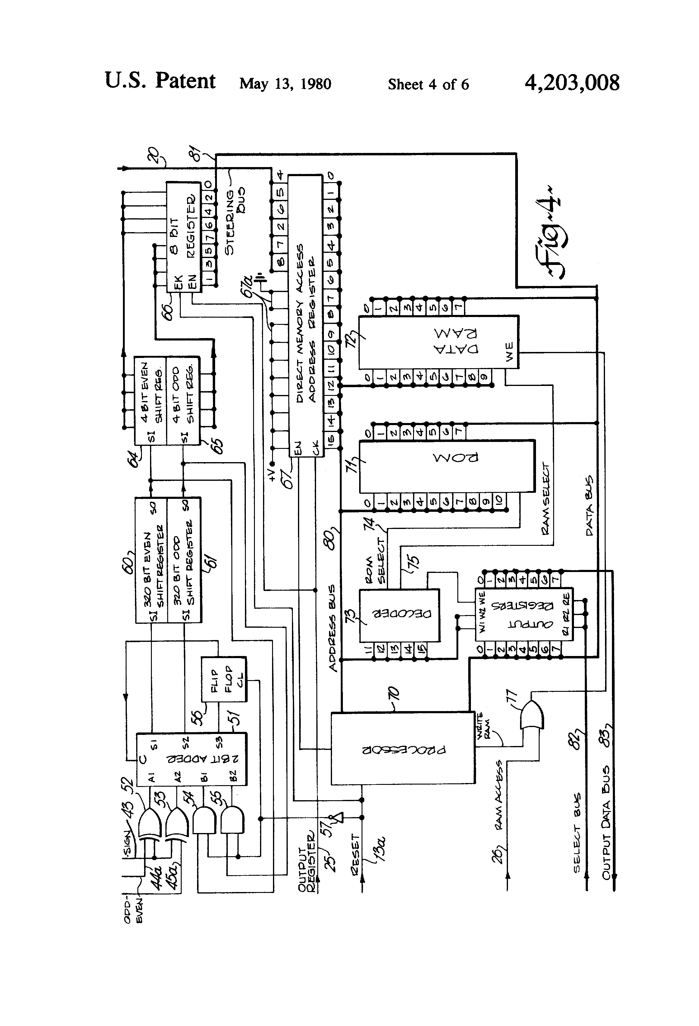 US4203008 4 patent us4203008 digital signalling receiver for receiving pcm case 5130 wiring diagram at reclaimingppi.co