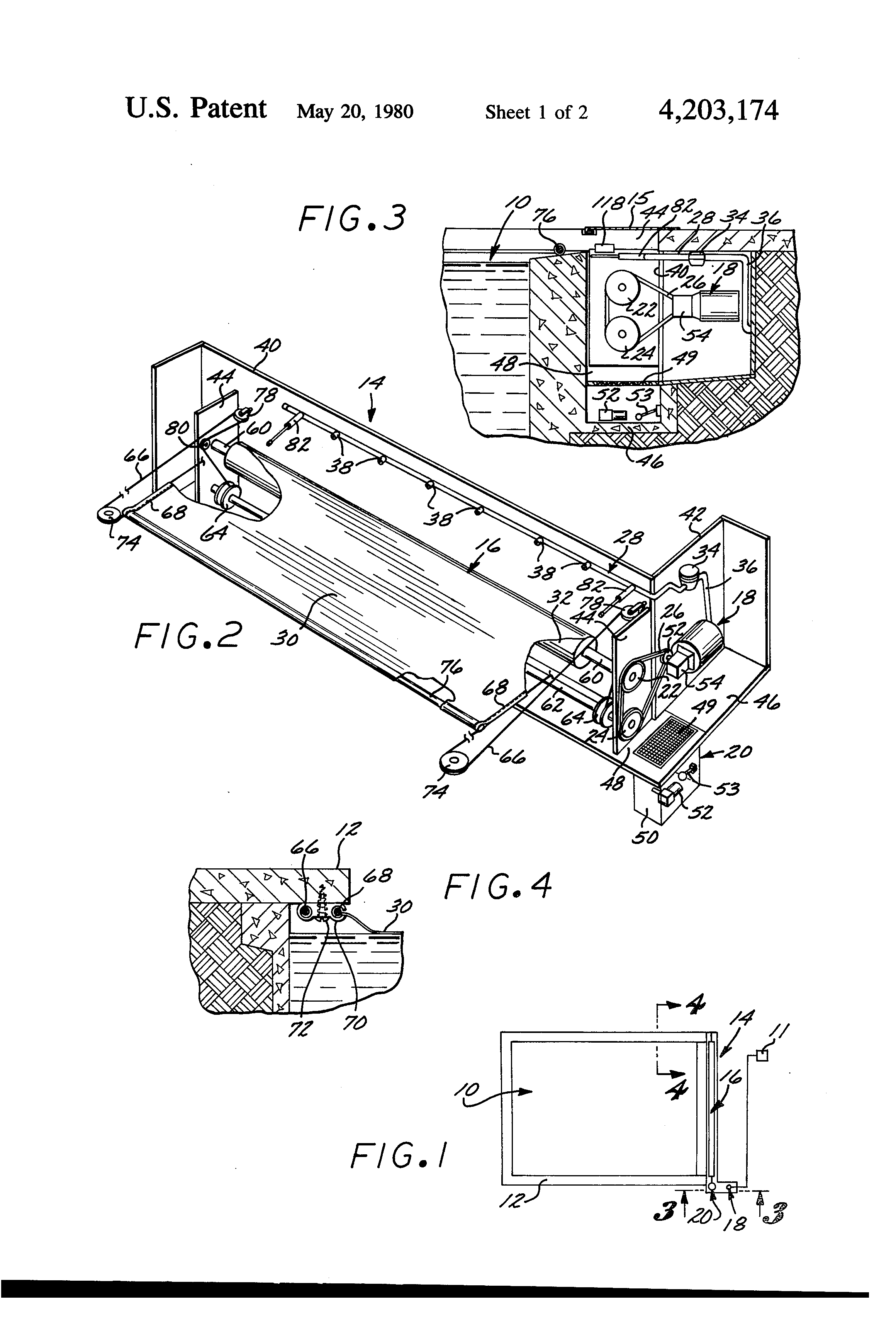 Patent us4203174 automatic swimming pool cover and cover for Automatic pool cover motor