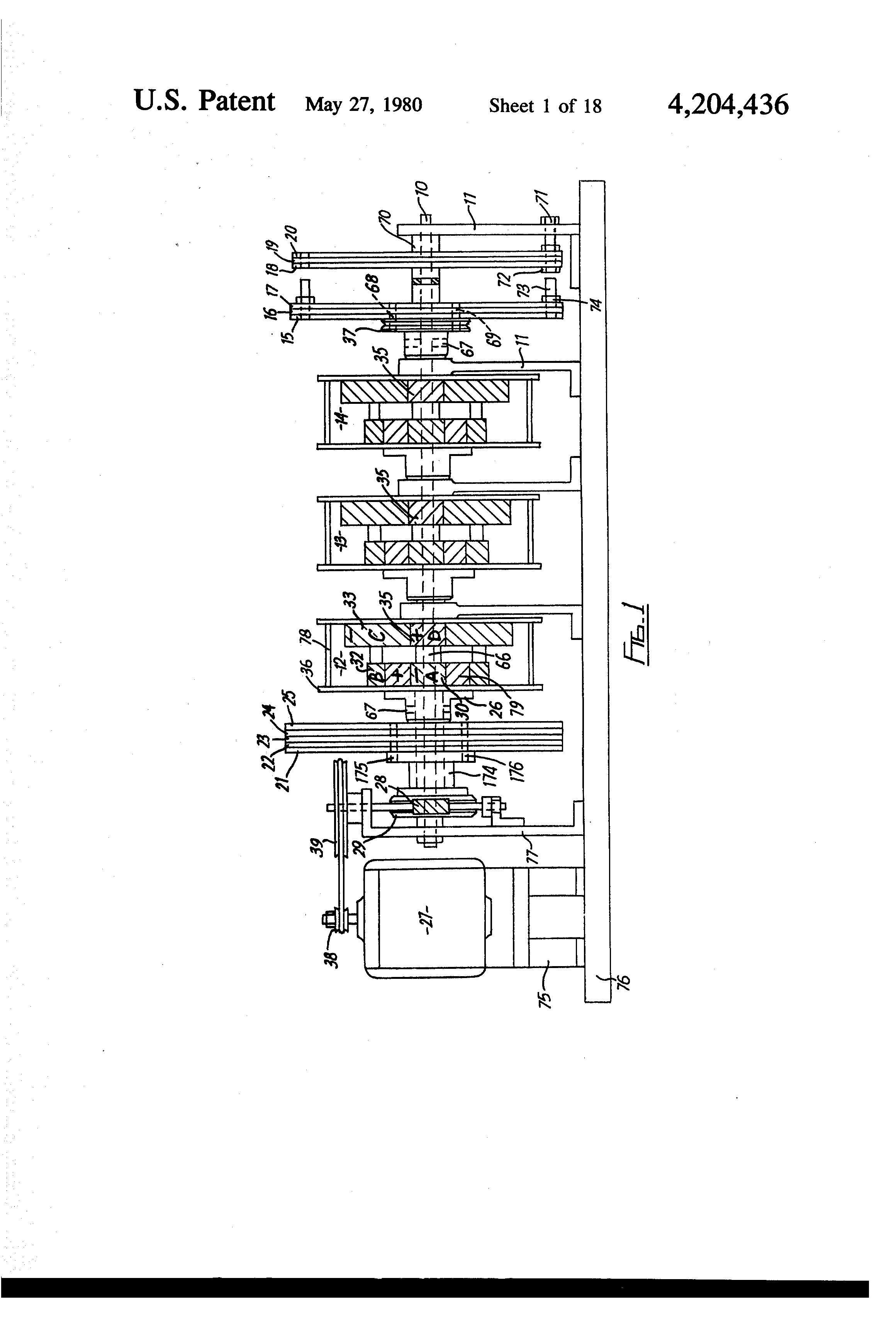 Patent Us4204436 Improvements In Or Relating To Epicyclic Gear 420 Ford Tractor Electrical Wiring Diagram Drawing