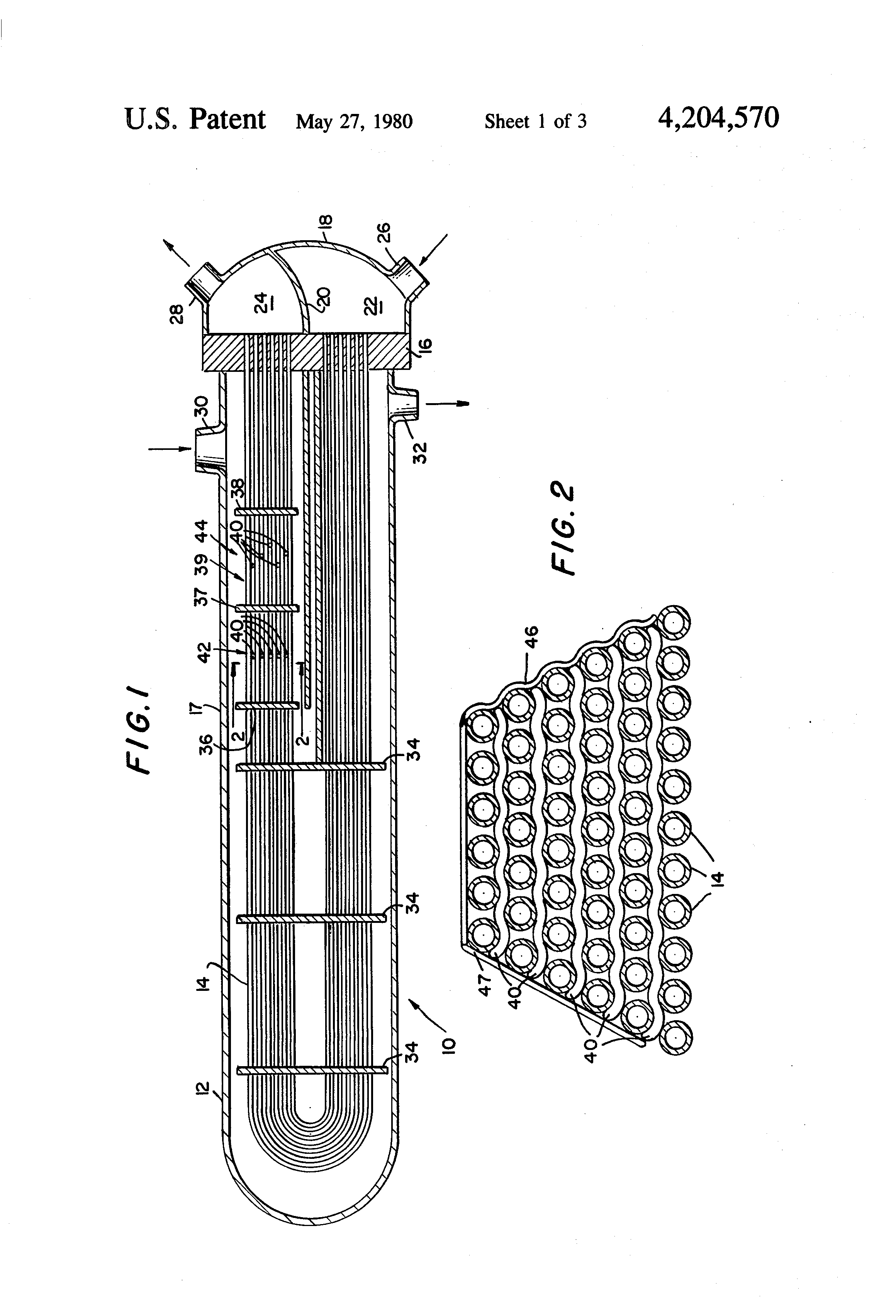 Patent us helical spacer for heat exchanger tube