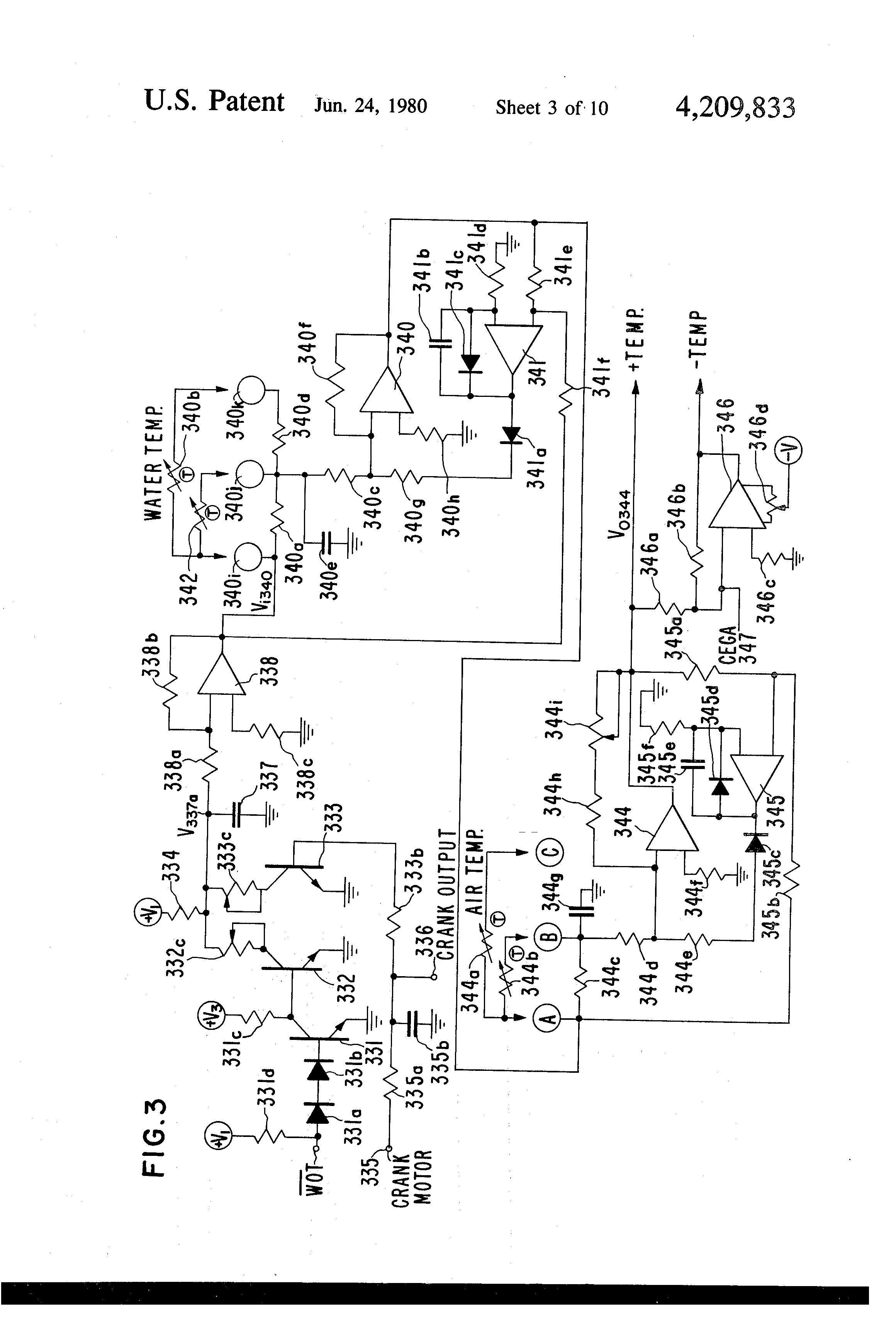 Brevet Us4209833 Electronic Control System Google Brevets Threebit Temperature Controller Circuit Controlcircuit Patent Drawing