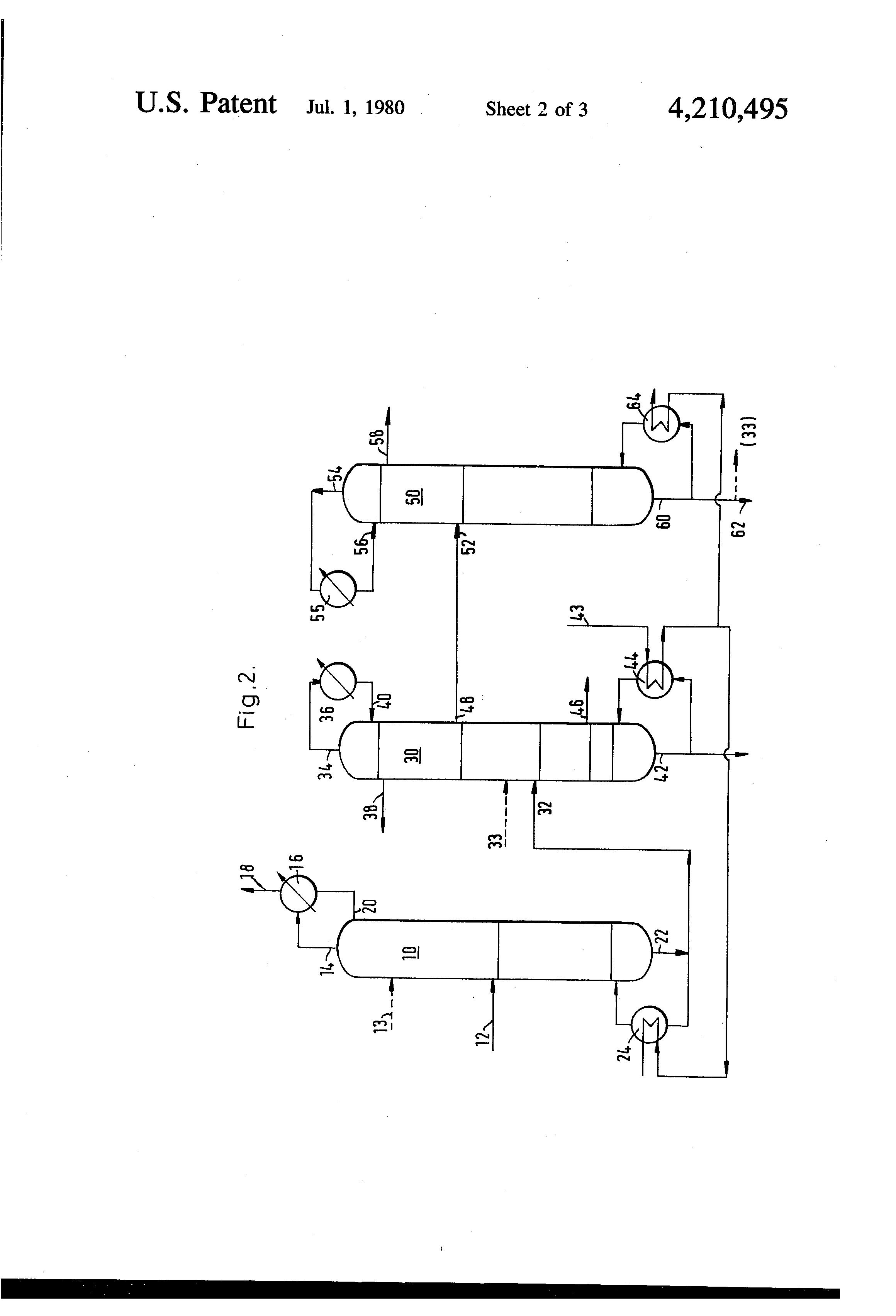 patent us4210495 - methanol distillation process