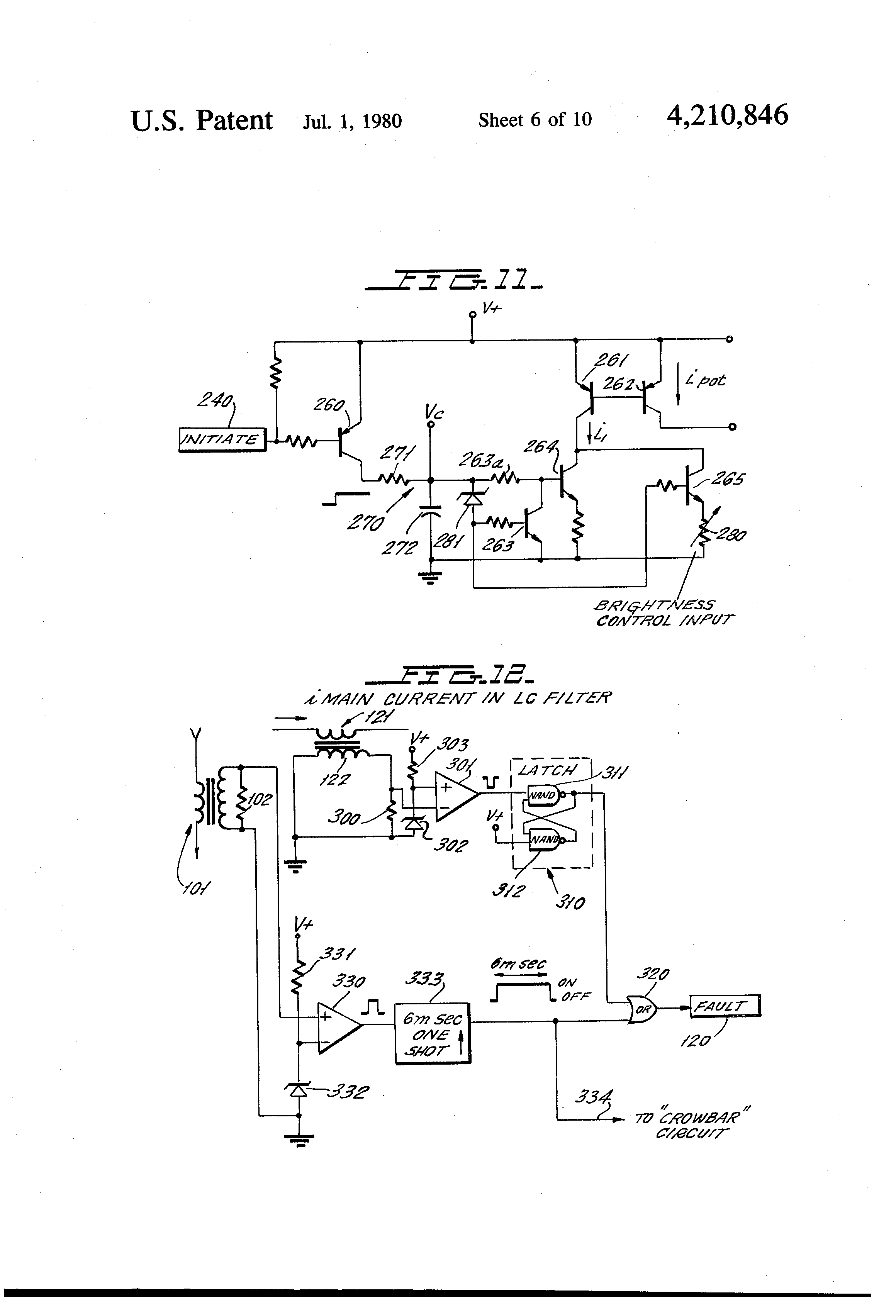 Patent Us4210846 Inverter Circuit For Energizing And Dimming Gas Differentiator Besides Integrator Lifier Likewise Low Drawing