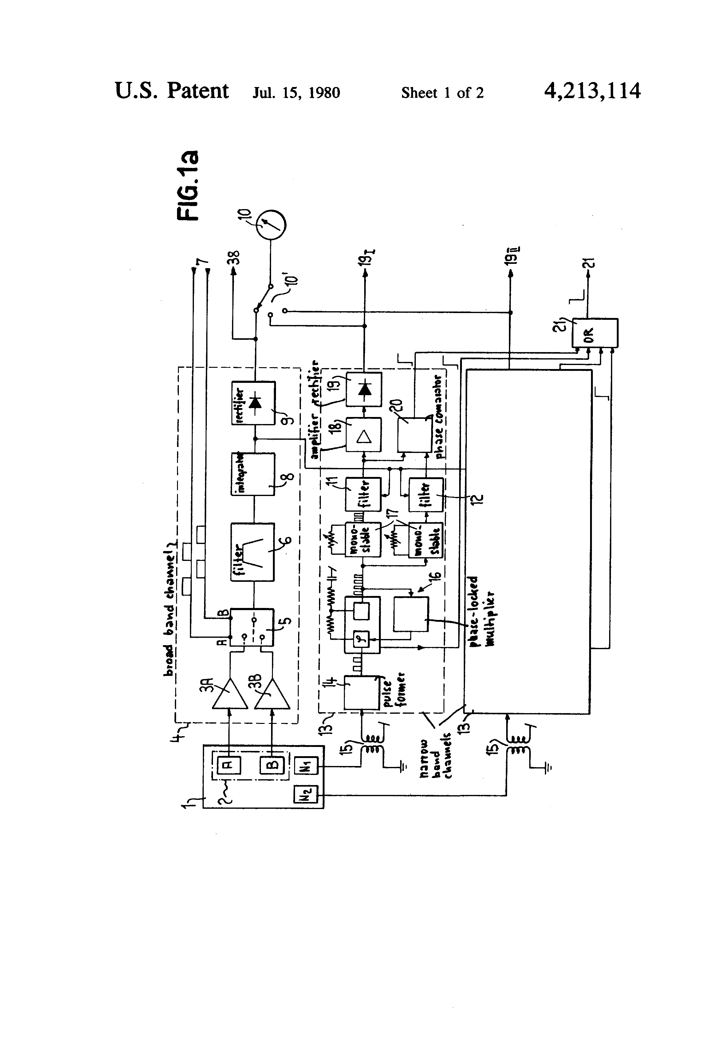 US4213114 1 patent us4213114 vibration monitoring system for an aircraft muncie pto wiring diagram at crackthecode.co