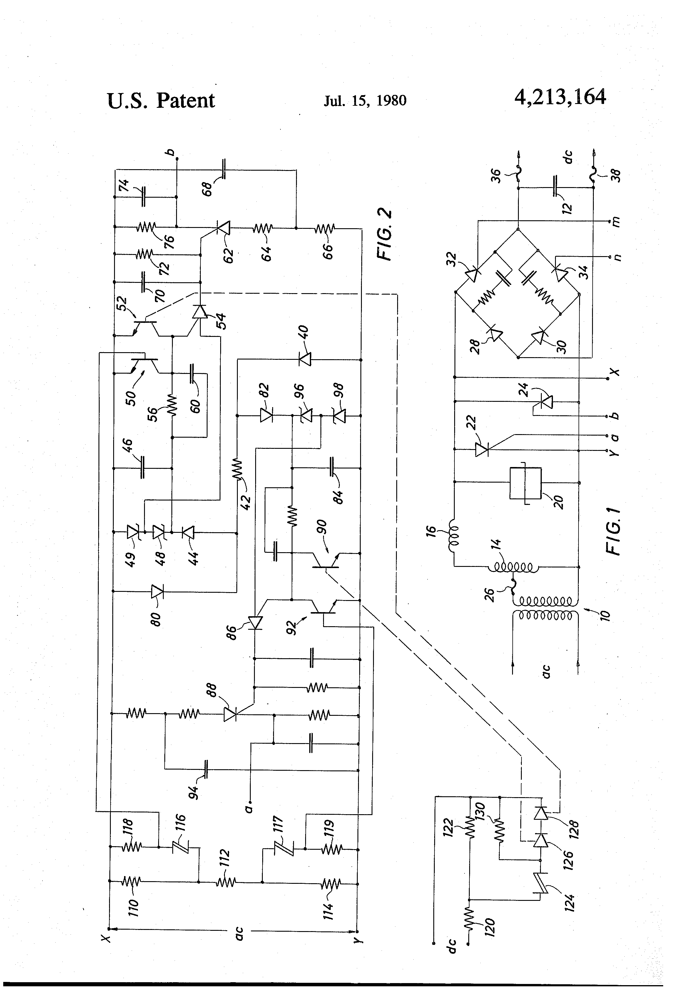 Patent Us4213164 Electronic Protection Circuit Incorporating Voltage Divider Explained Projects Drawing