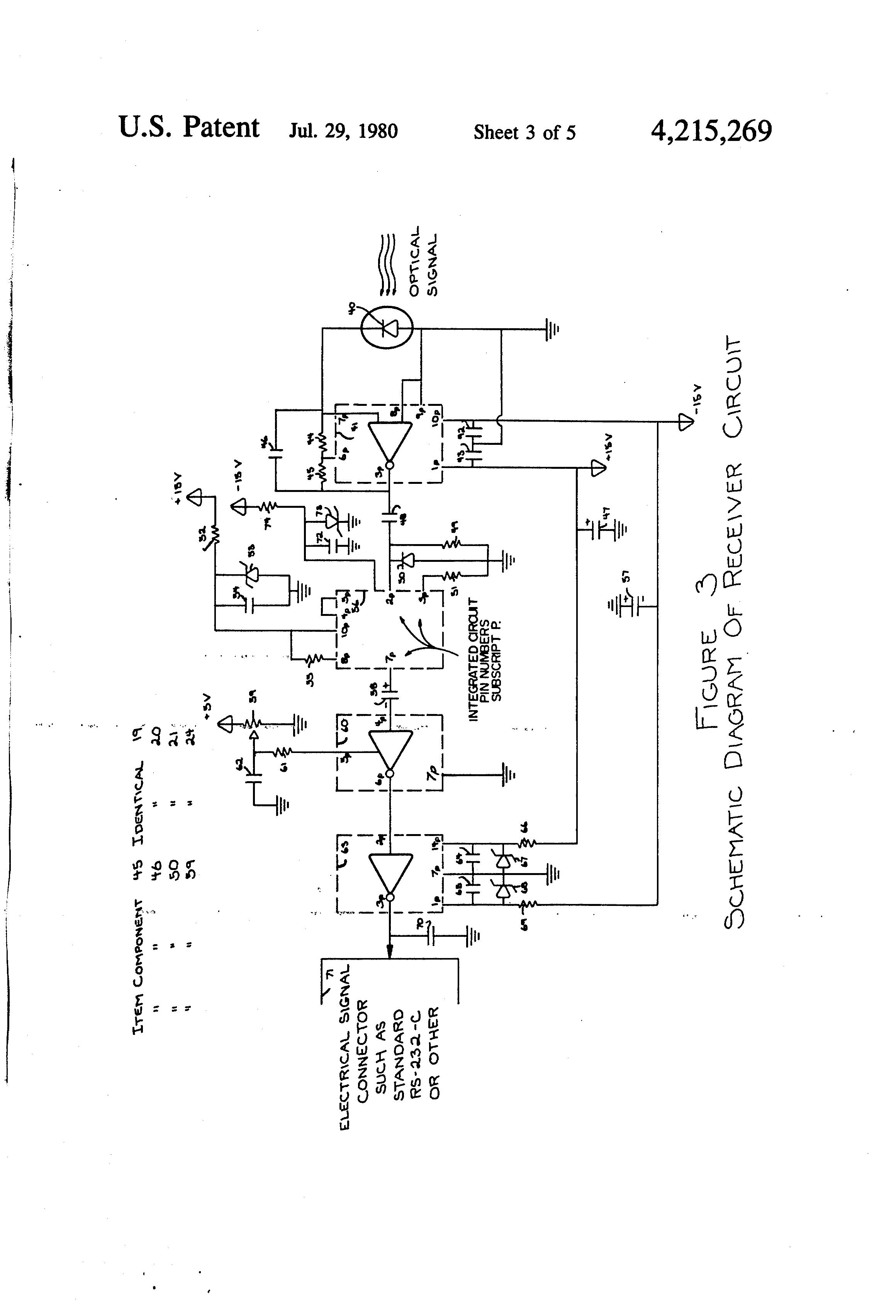 Patent Us4215269 Fiber Optic Modem Data Set Google Patents Optics Integrated Circuits Images Buy Drawing