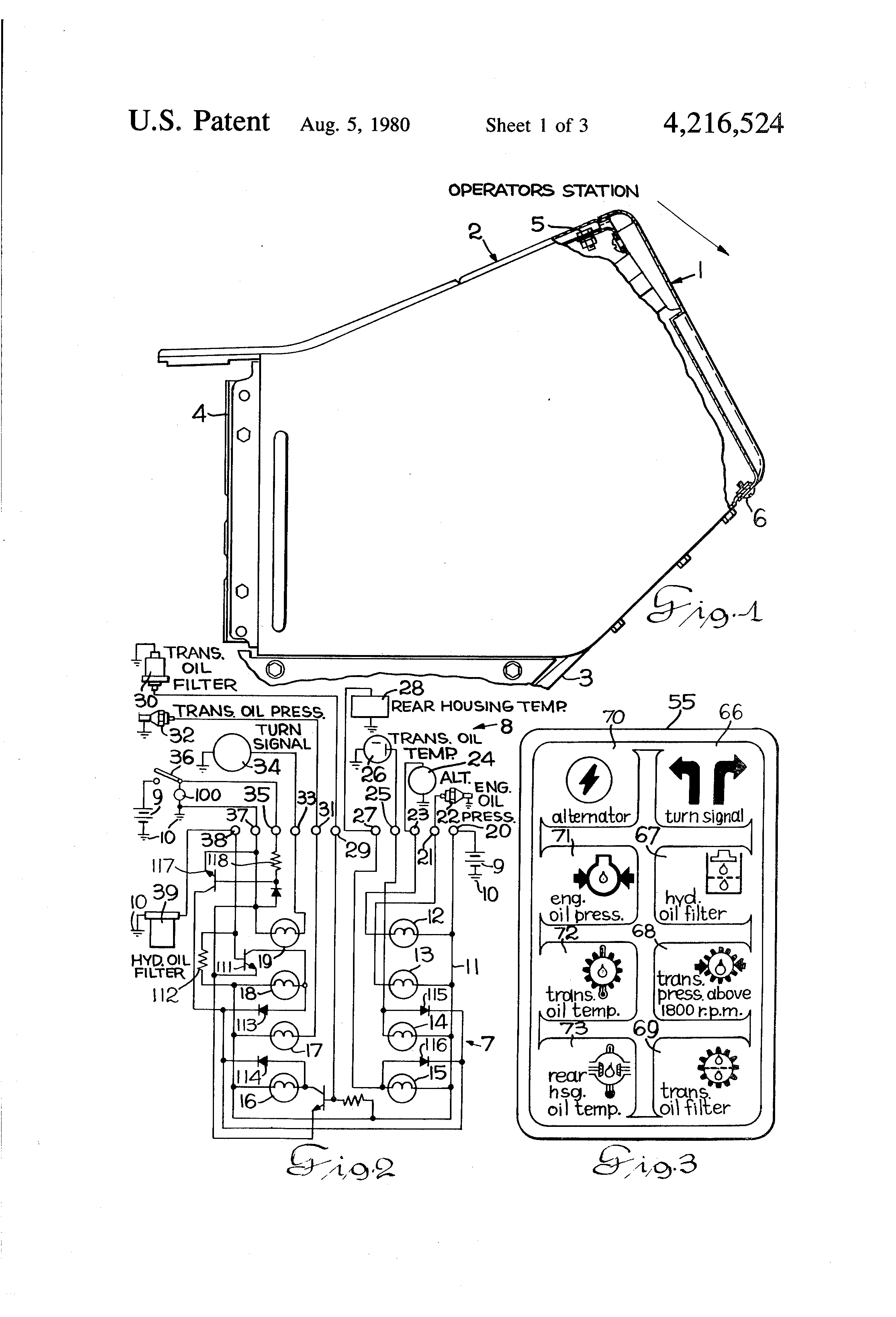 patent us4216524 - indicator lights