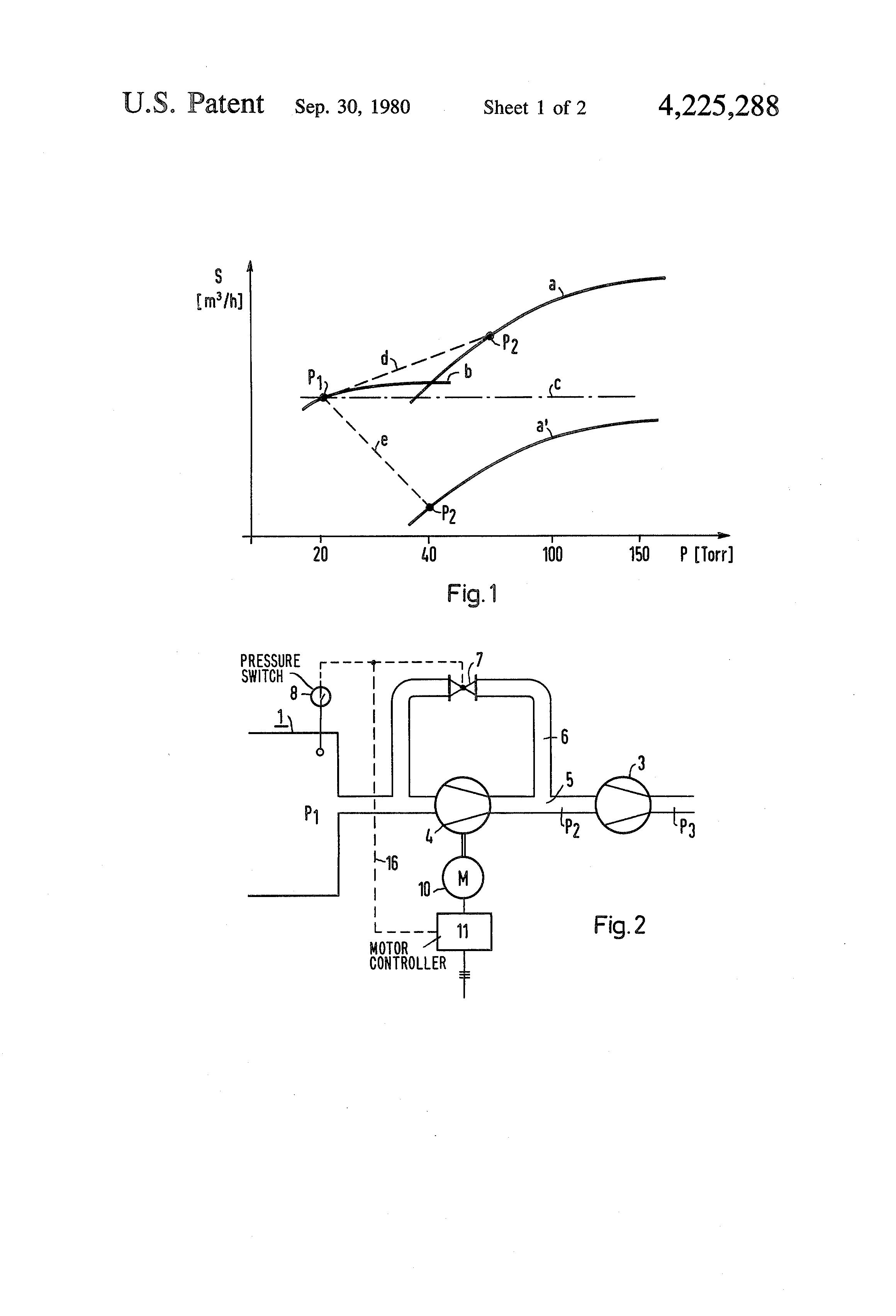 Patent Us4225288 Pump Set Comprising A Liquid Ring Vacuum Diagram Nash Drawing