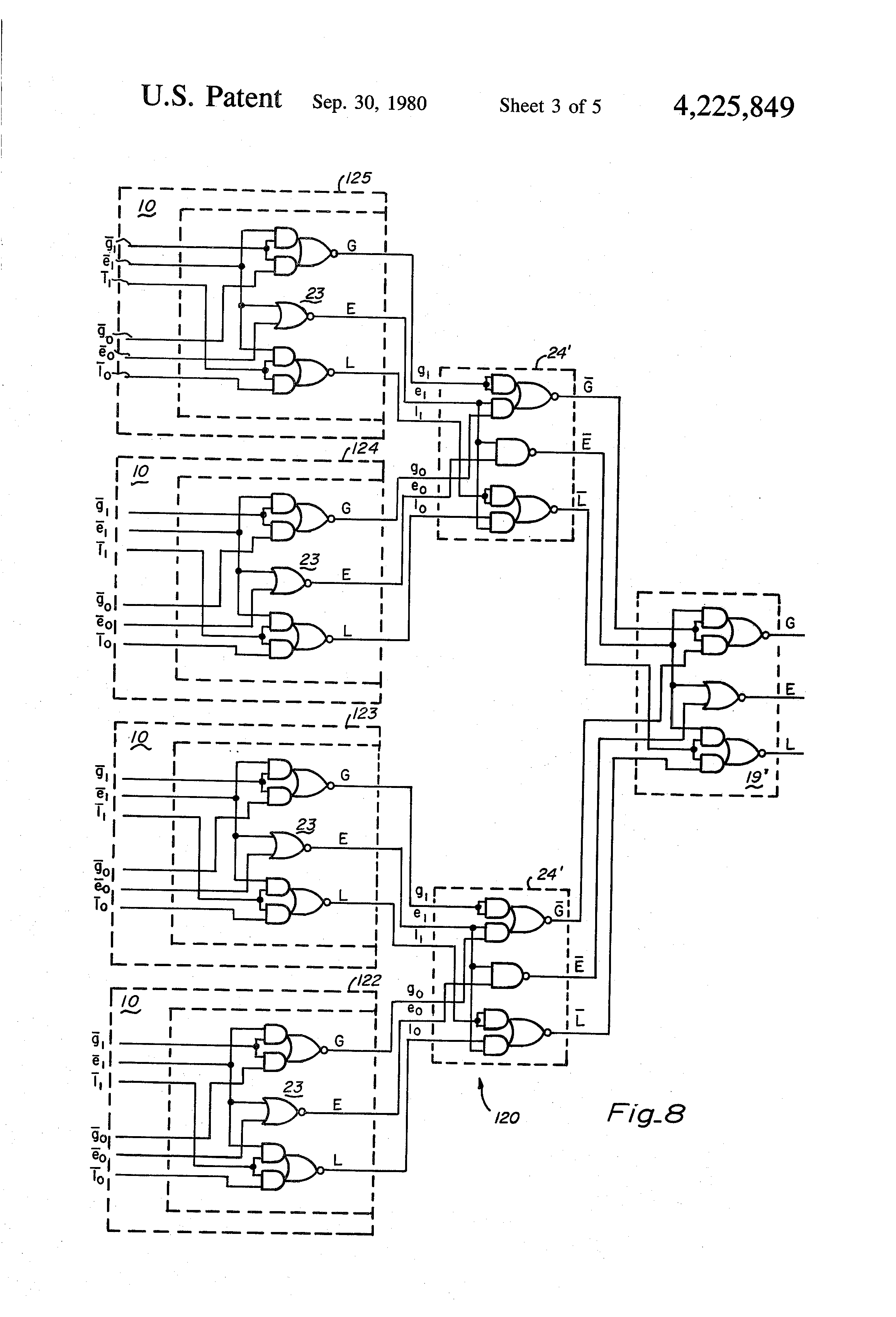 patent us4225849 n bit magnitude comparator of free design 1 Bit Comparator 3 bit comparator logic diagram