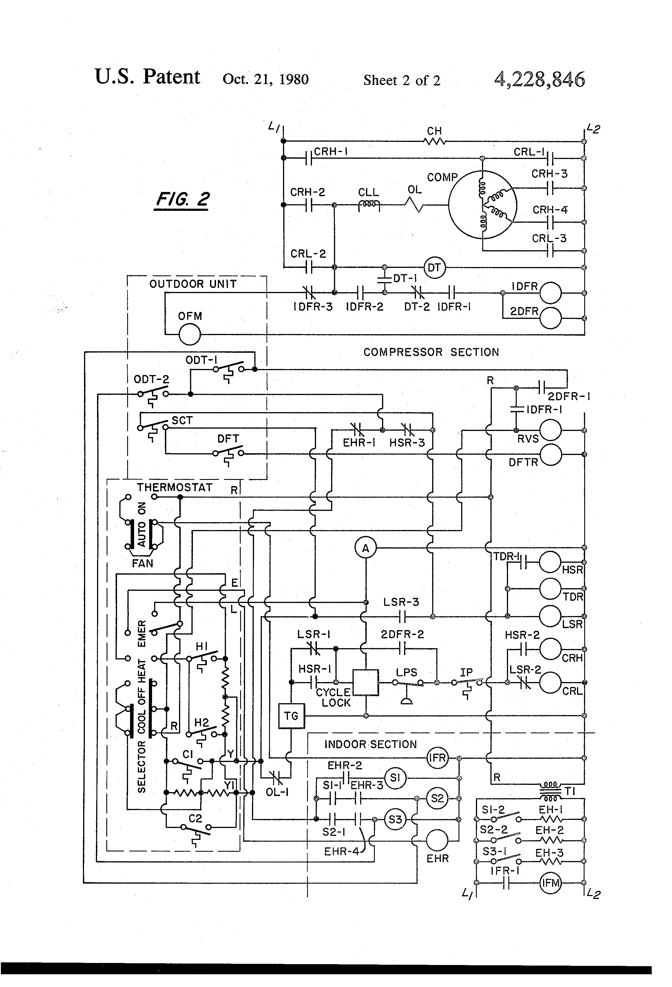 US4228846 2 patent us4228846 control apparatus for a two speed heat pump electric unit heater wiring diagram at cos-gaming.co