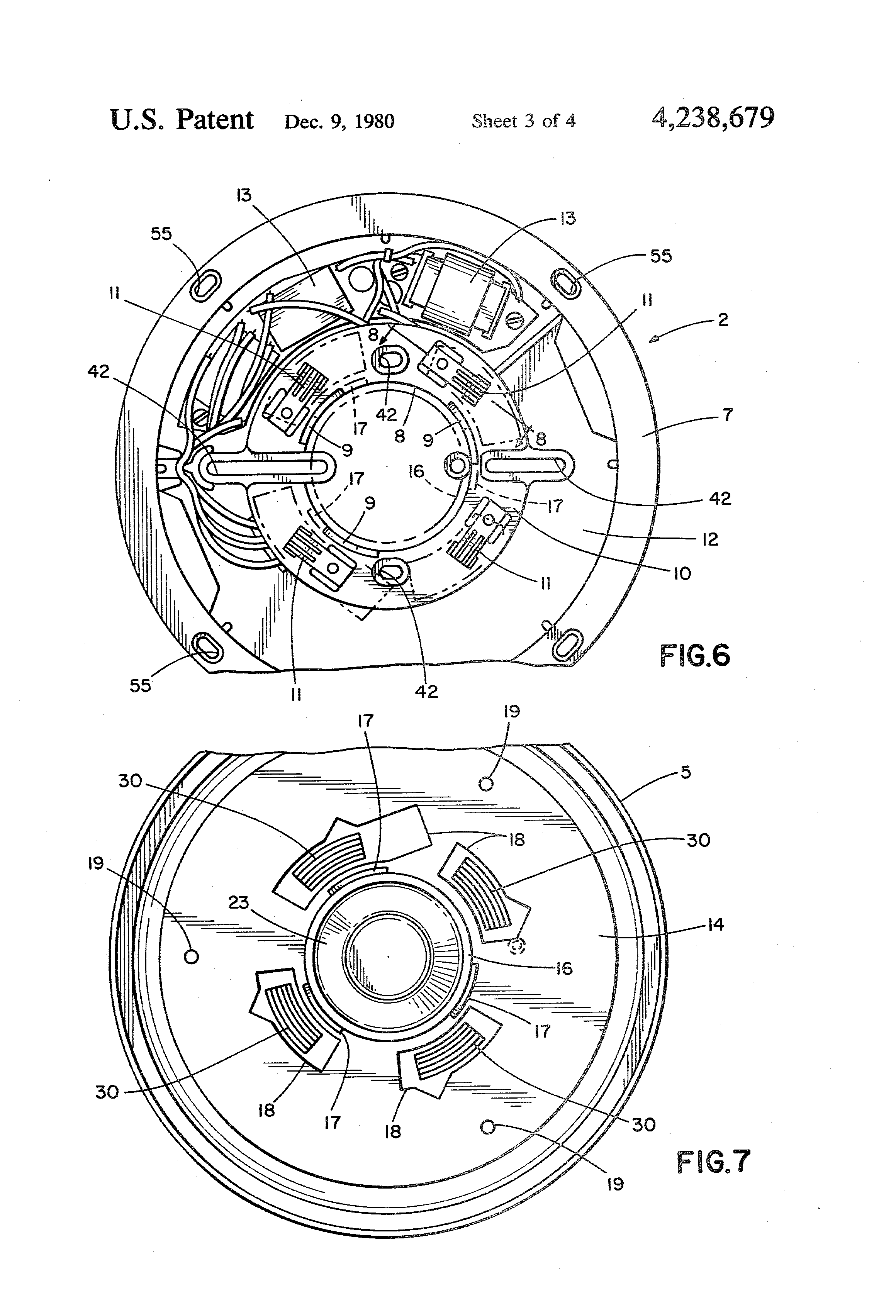 patent us4238679 - dual-chamber ionization smoke detector assembly