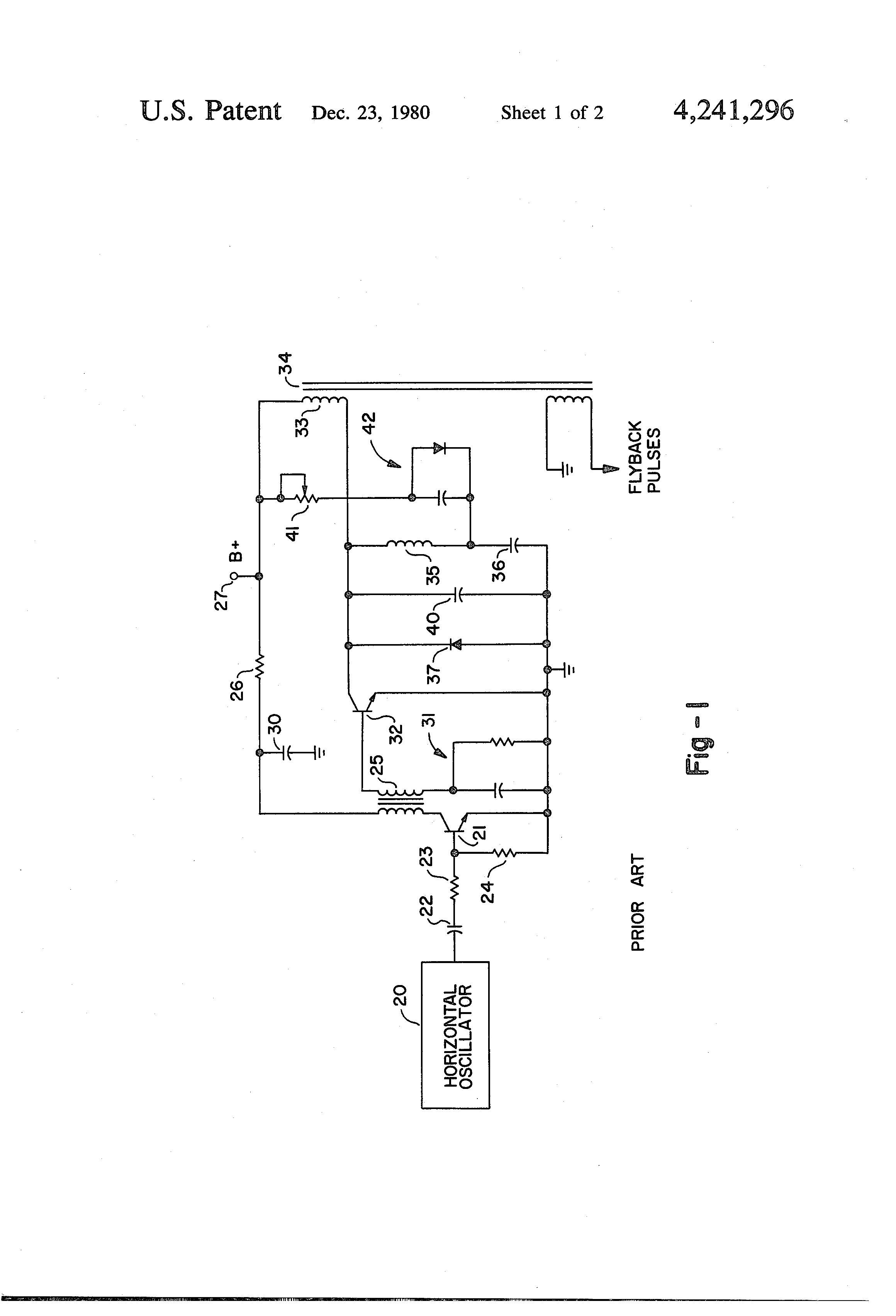 Circuit Diagram Horizontal Deflection Wiring Simple Oscilloscope Timebase Generator Tradeofic