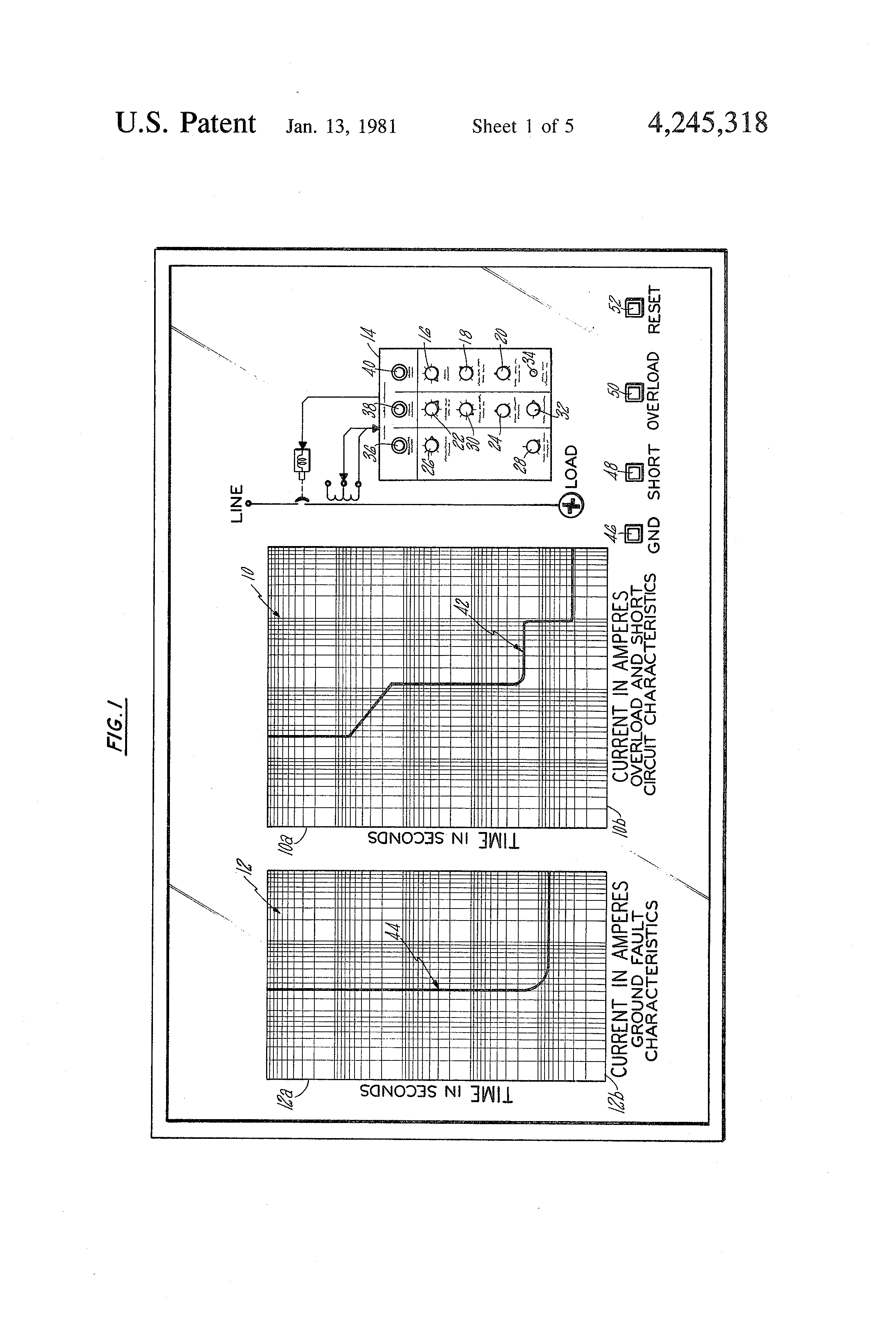 Patent Us4245318 Circuit Breaker Demonstrator And Distribution Figure 2 Pushbutton Closed Current Flows Drawing