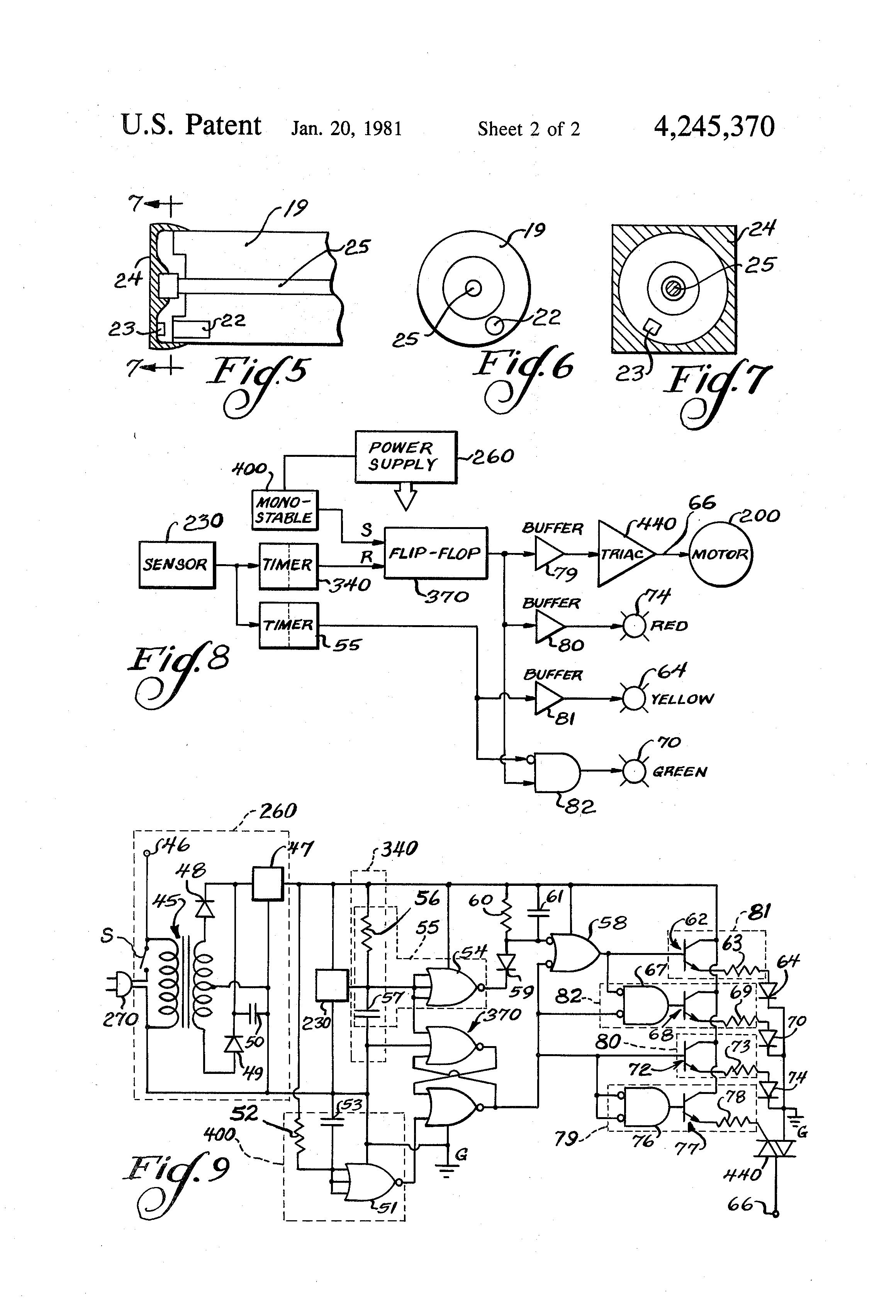 Patent US4245370 Control circuit for protecting vacuum cleaner – Royal Vacuum Cleaner Wiring Diagram