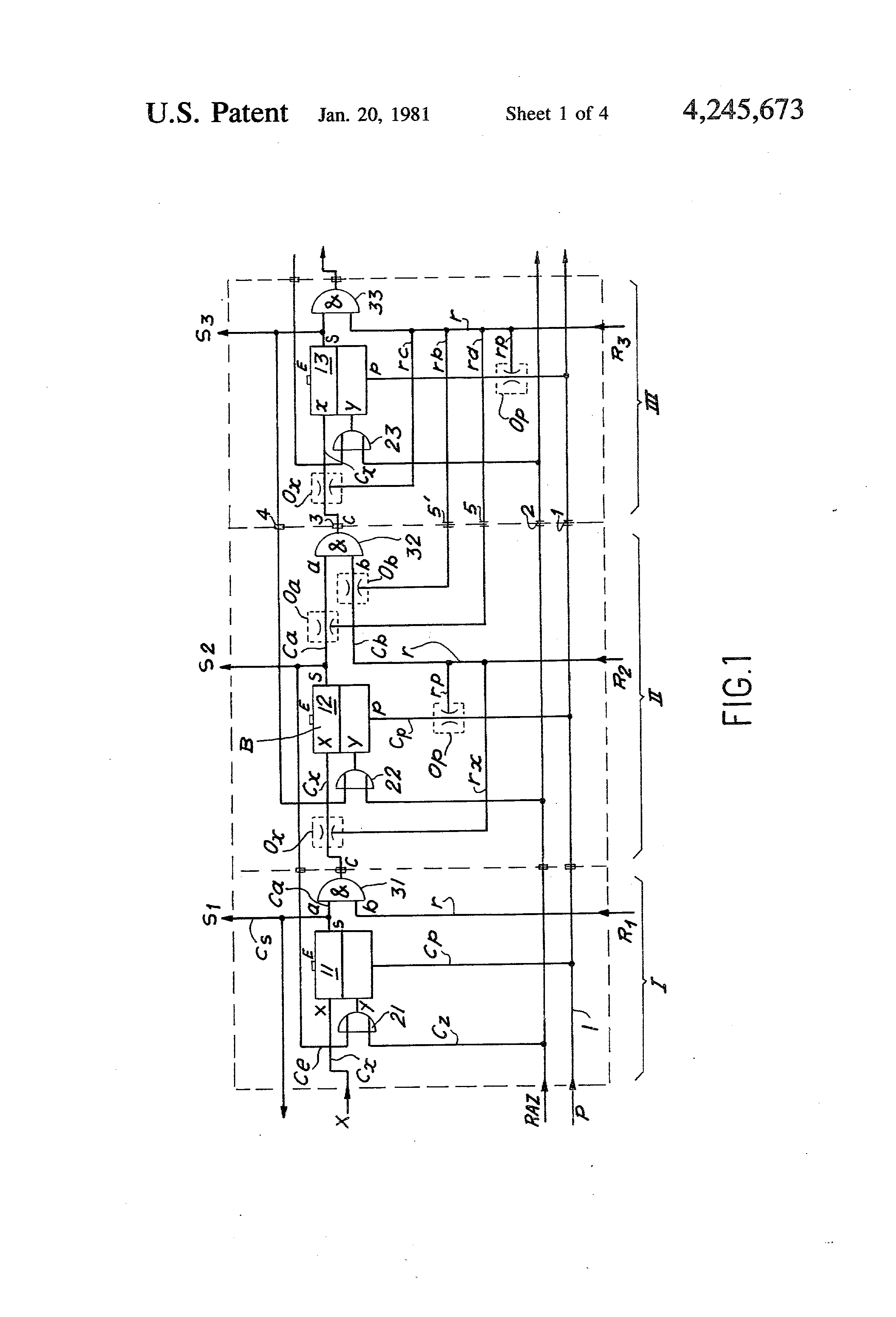 patent us4245673 - pneumatic logic circuit