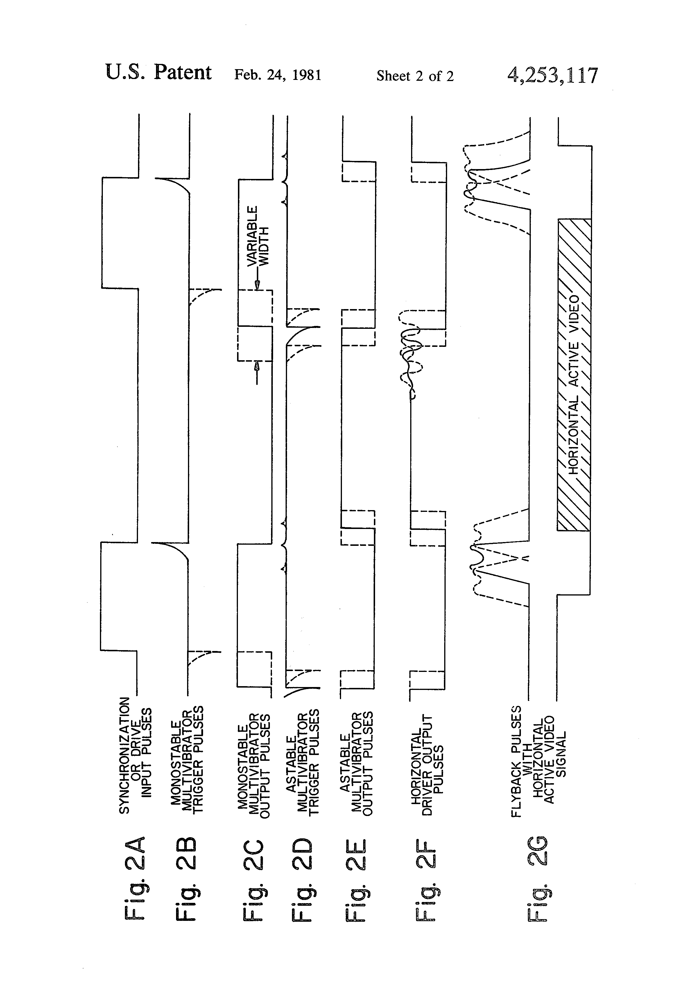 Patent Us4253117 Multivibrator Synchronization System For Video Com Circuitdiagram Signalprocessing Oscillatorcircuit Simplettl Drawing