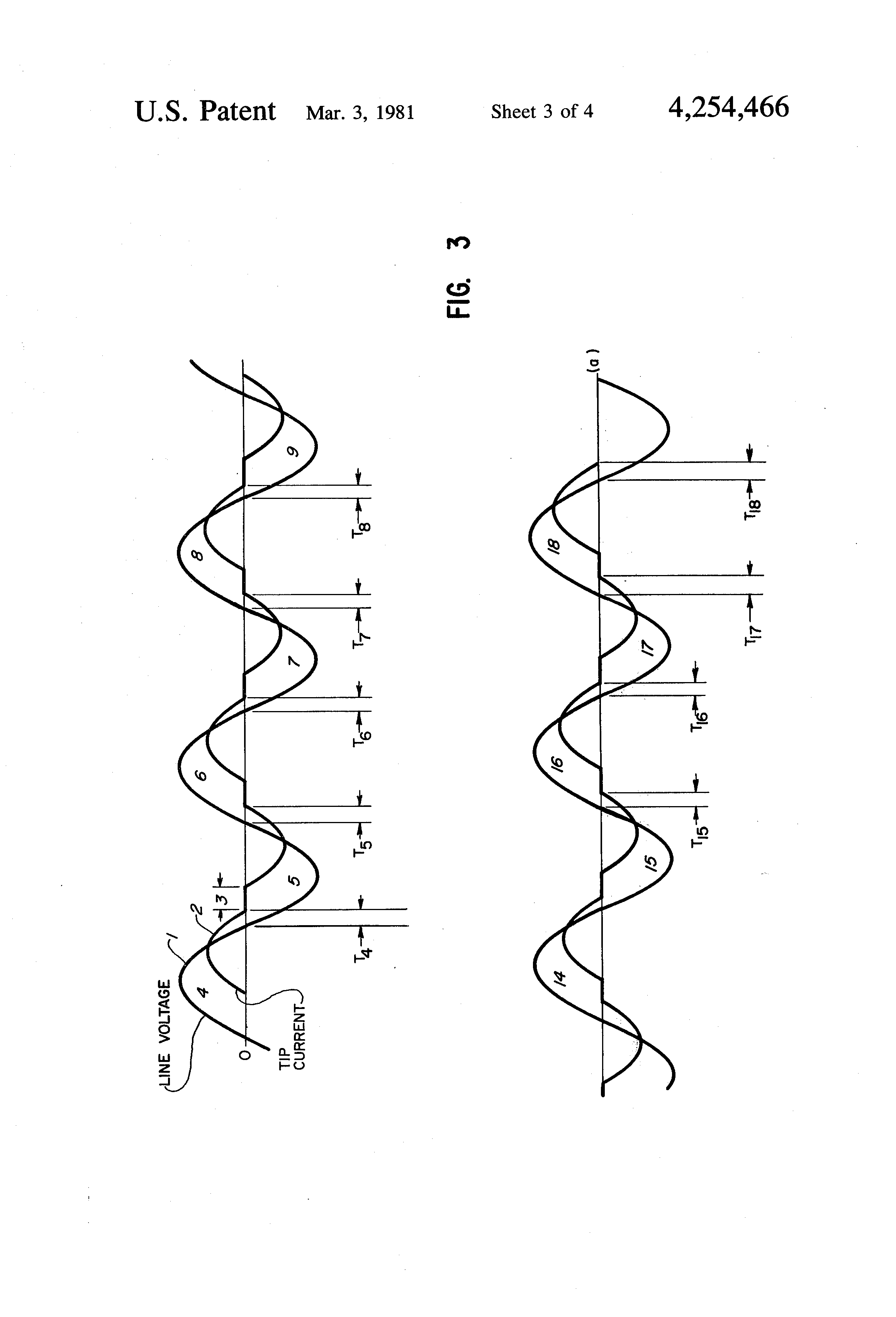 patent us4254466 - power factor monitoring and control system for resistance welding