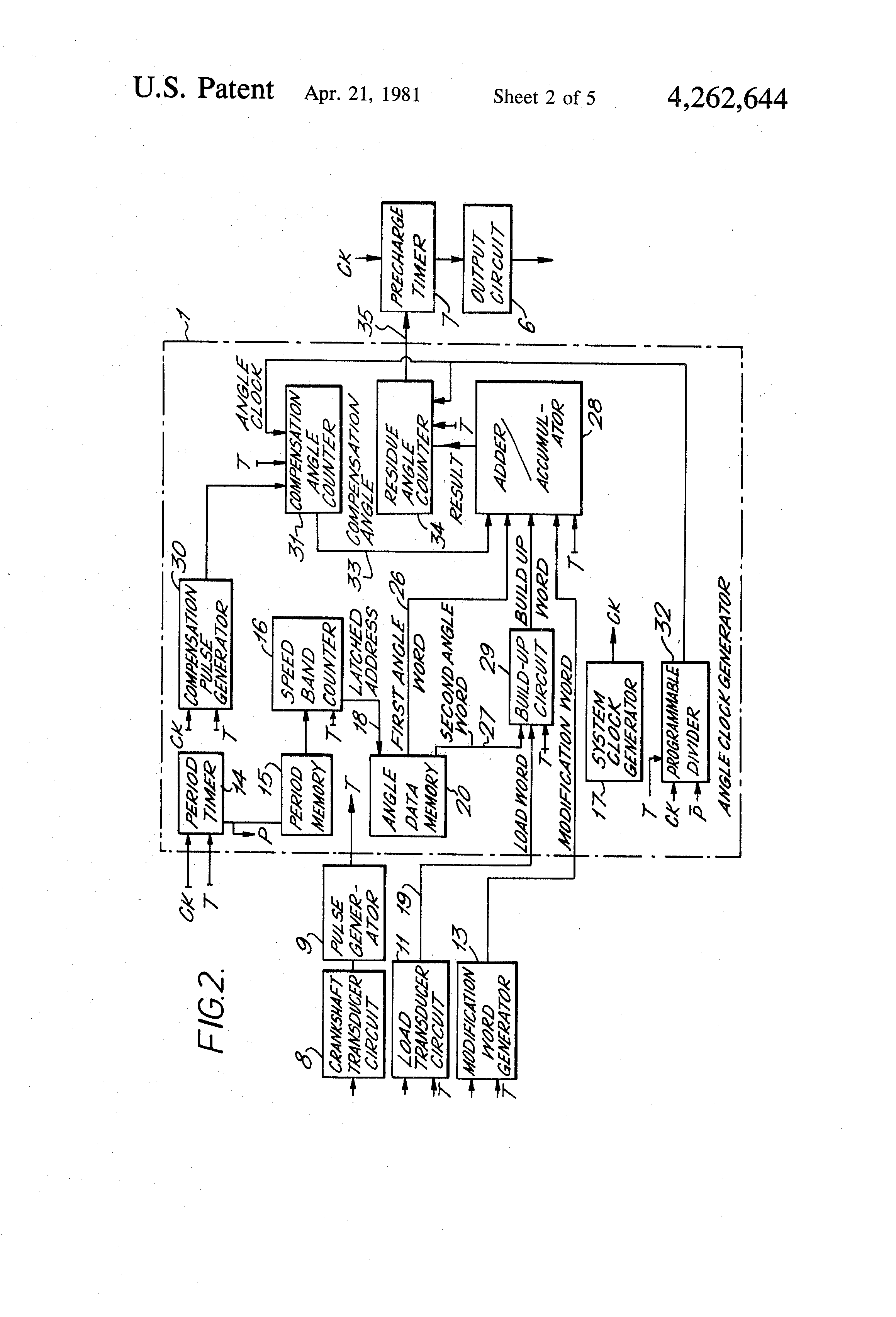 Patente Us4262644 Spark Timing Control Circuit For Controlling The Pulse Counter Schematic Diagram Patent Drawing