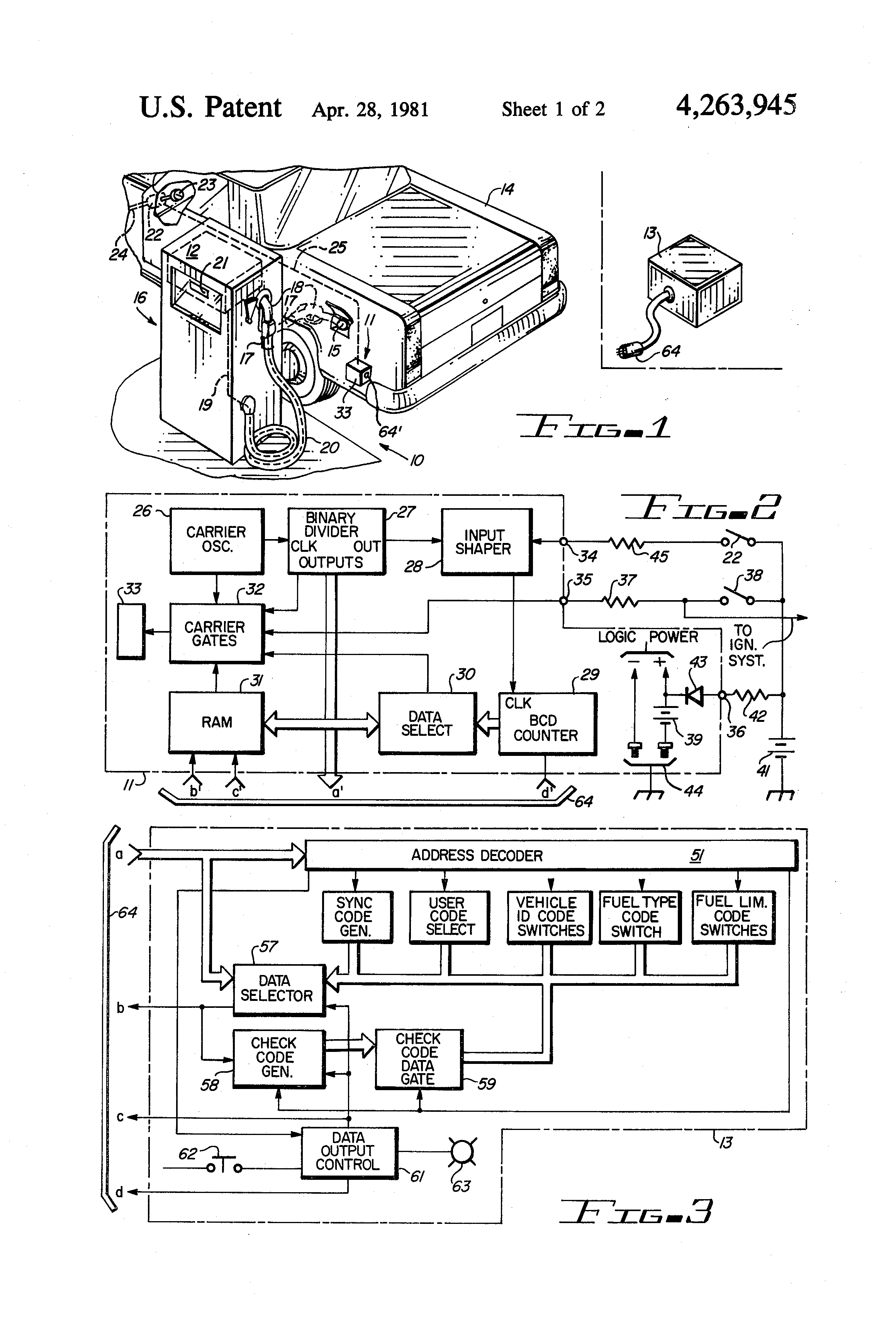 US4263945 1 patent us4263945 automatic fuel dispensing control system gilbarco advantage wiring diagram at arjmand.co