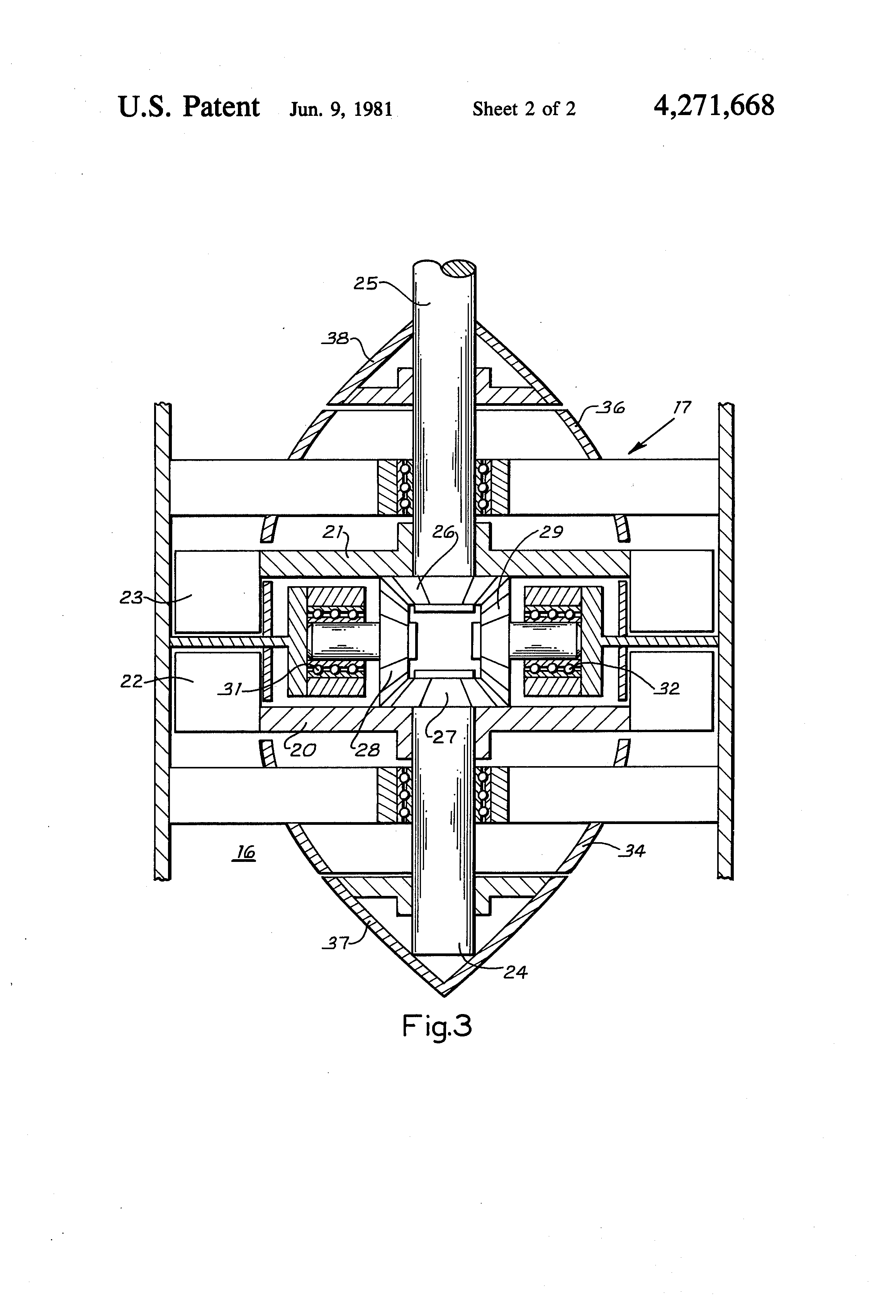 Patent US Counter rotating wave energy conversion turbine