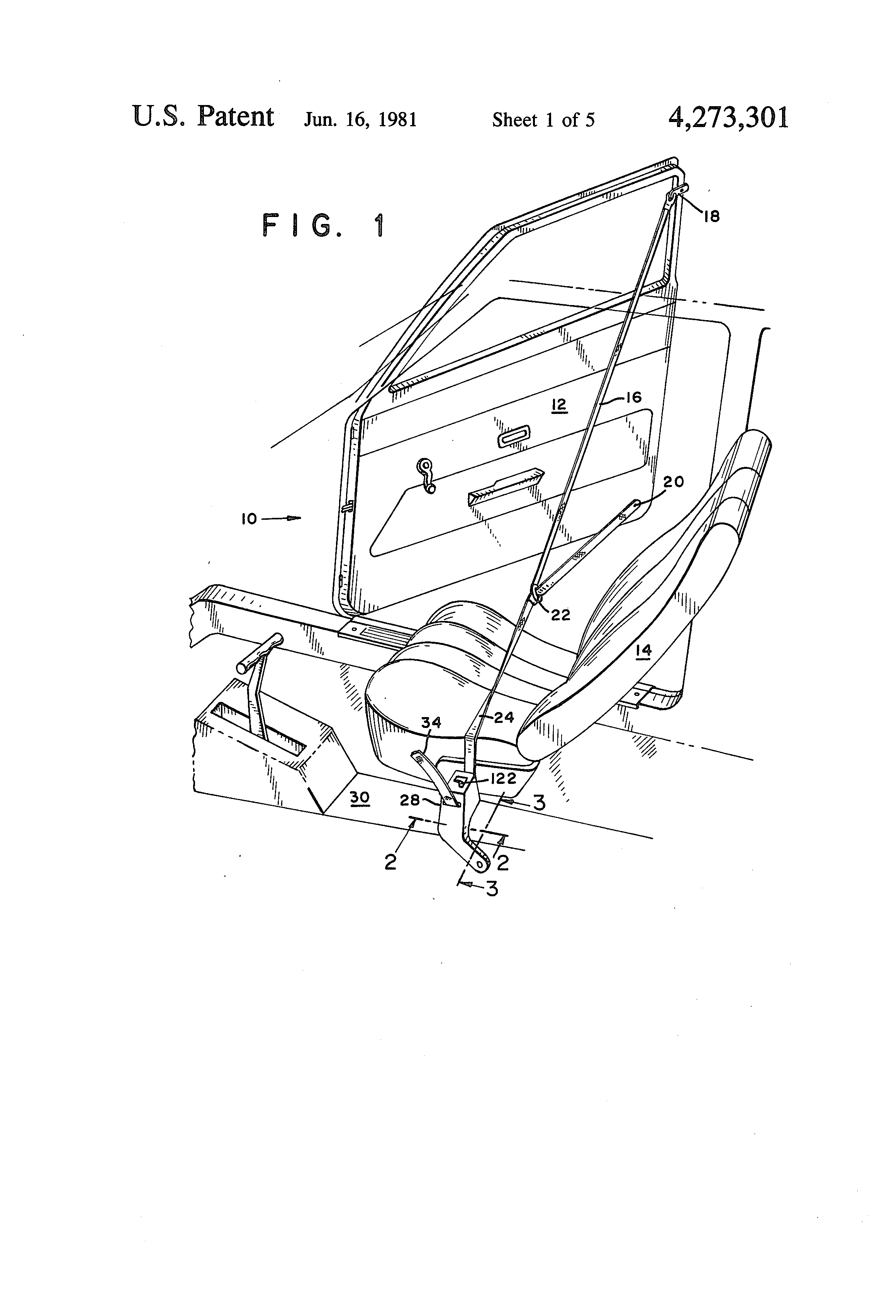 Patent Us4273301 Seat Belt Retractor With Emergency