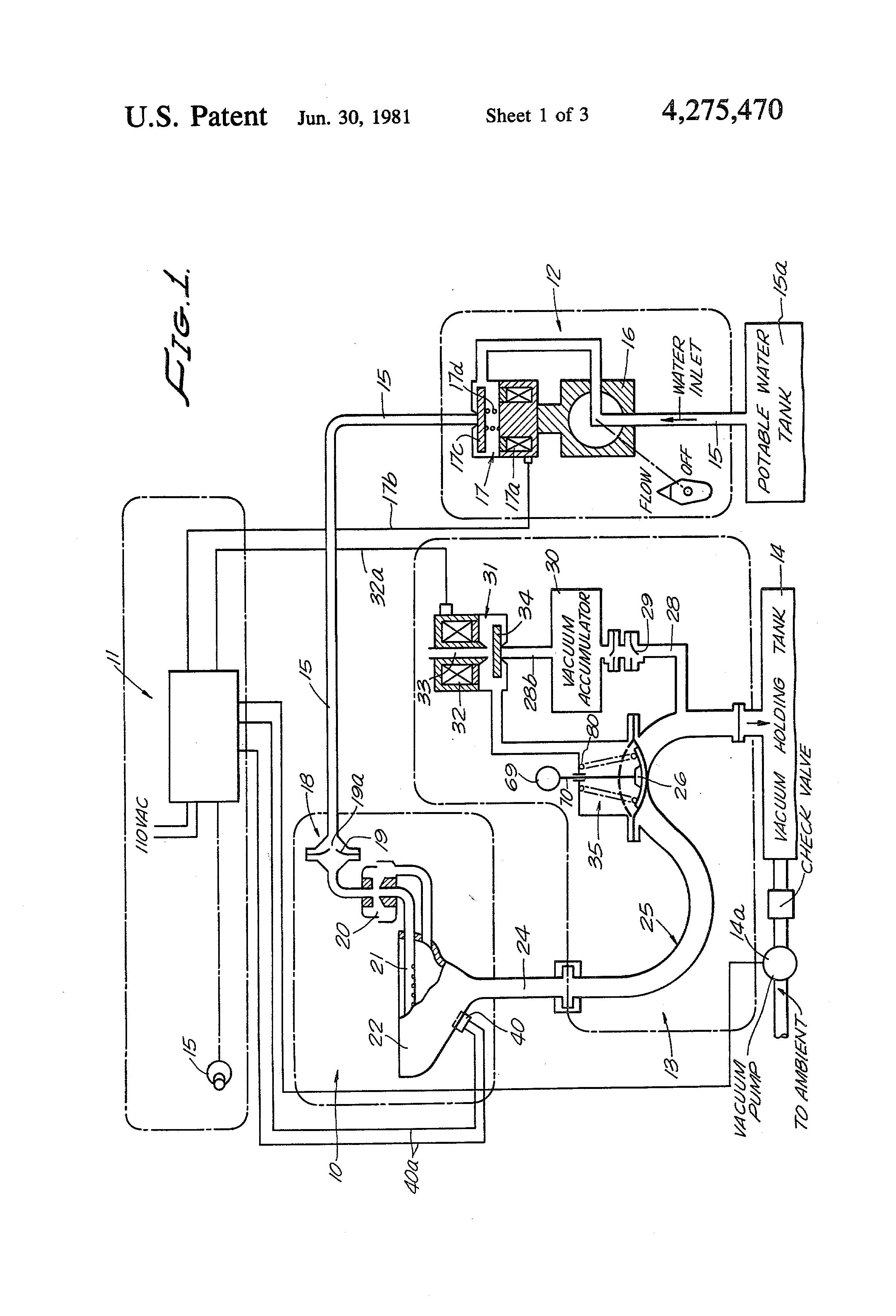 patent us4275470 vacuum flush toilet arrangement for aircraft patents