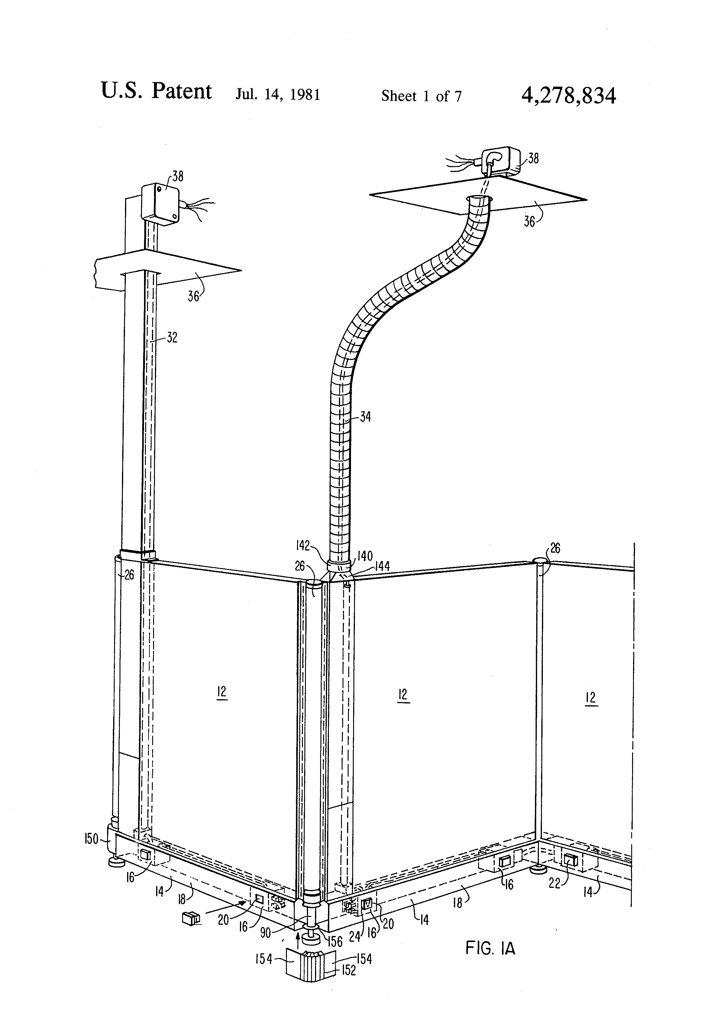 US4278834 1 patent us4278834 versatile, electrified space dividing wall herman miller cubicle wiring diagram at bayanpartner.co