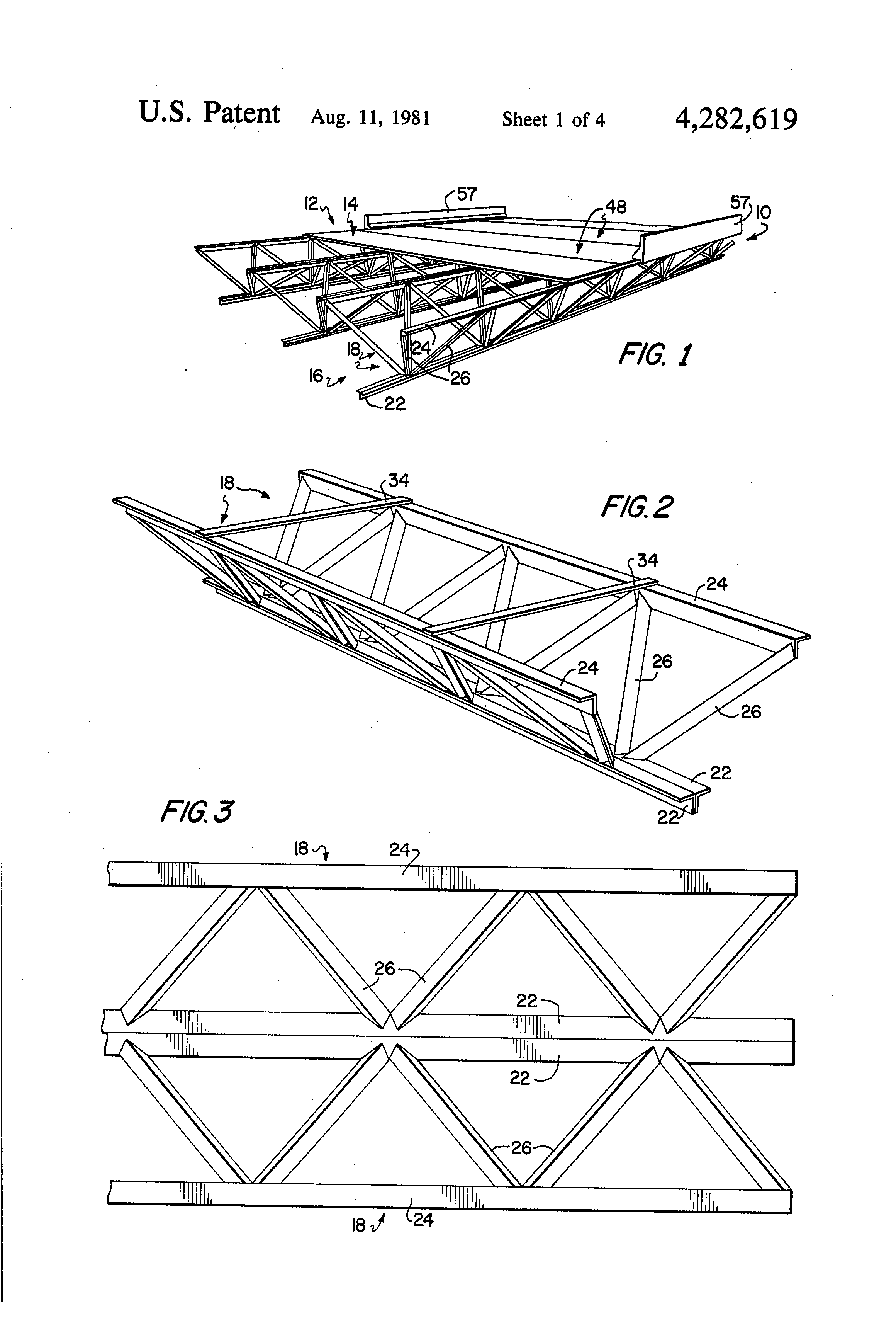 patent us4282619 - truss structure