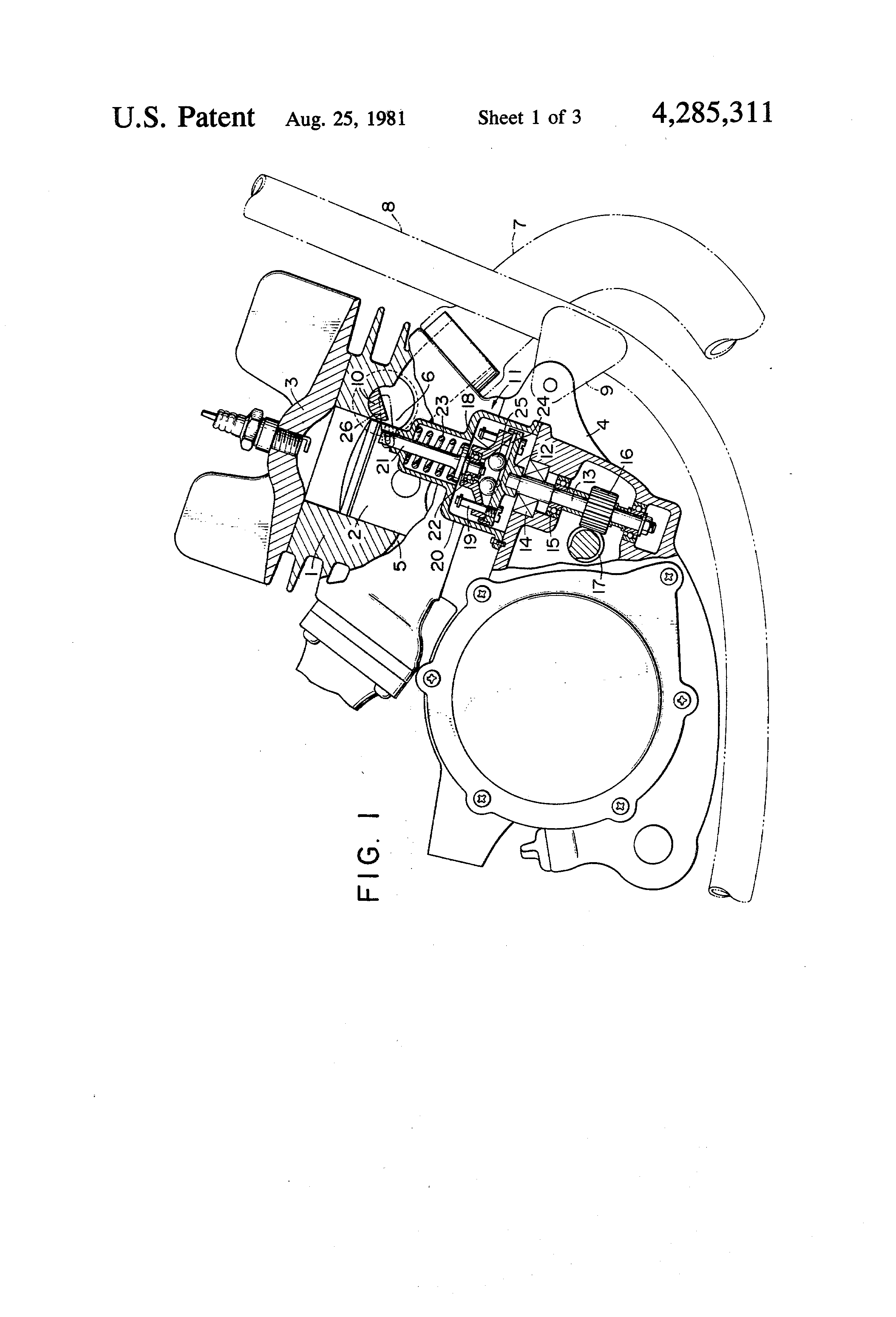 patent us4285311 - two stroke engine having exhaust port timing control valve
